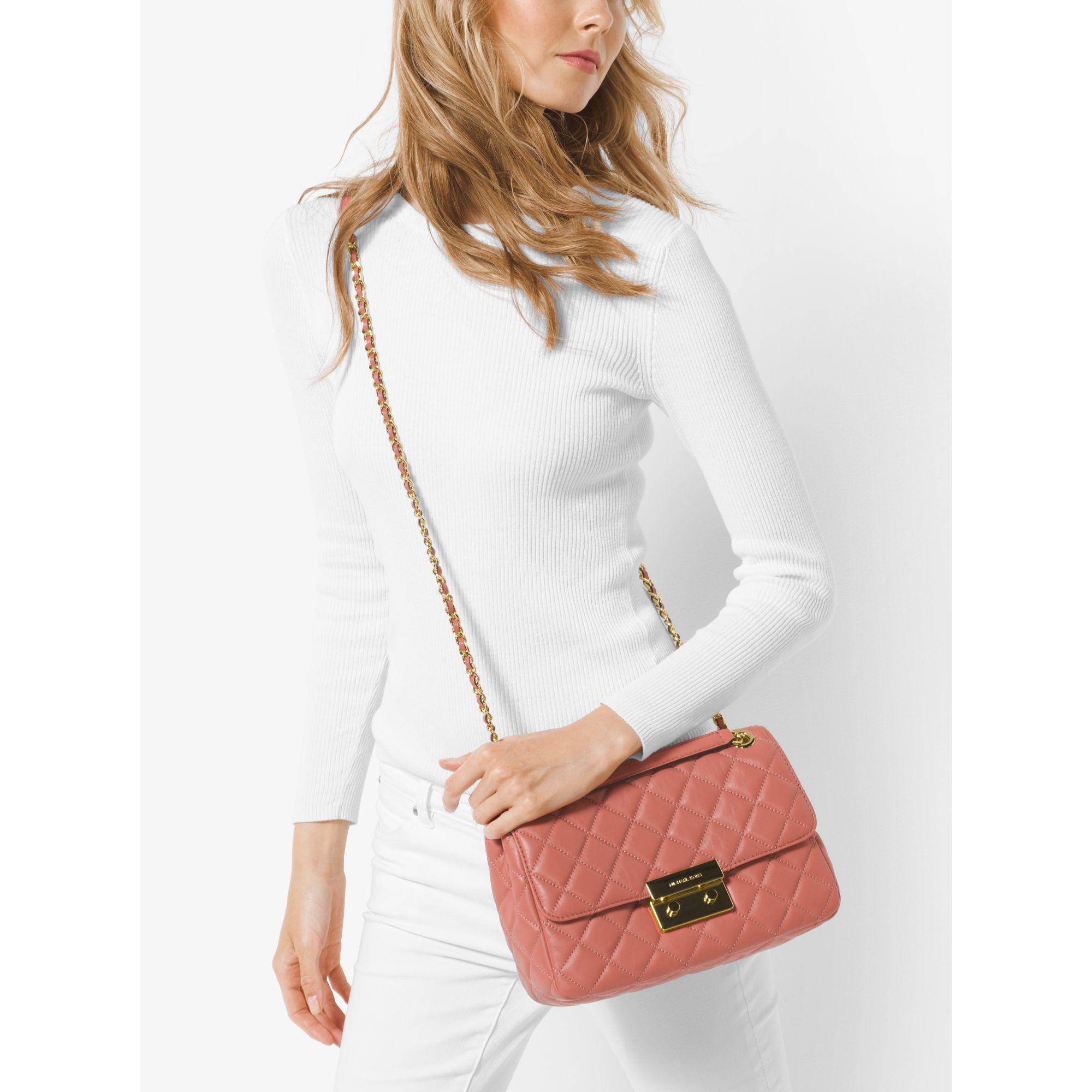 4844e3628fe5 Michael Kors Sloan Extra Large Quilted Shoulder Bag Black - Best ...