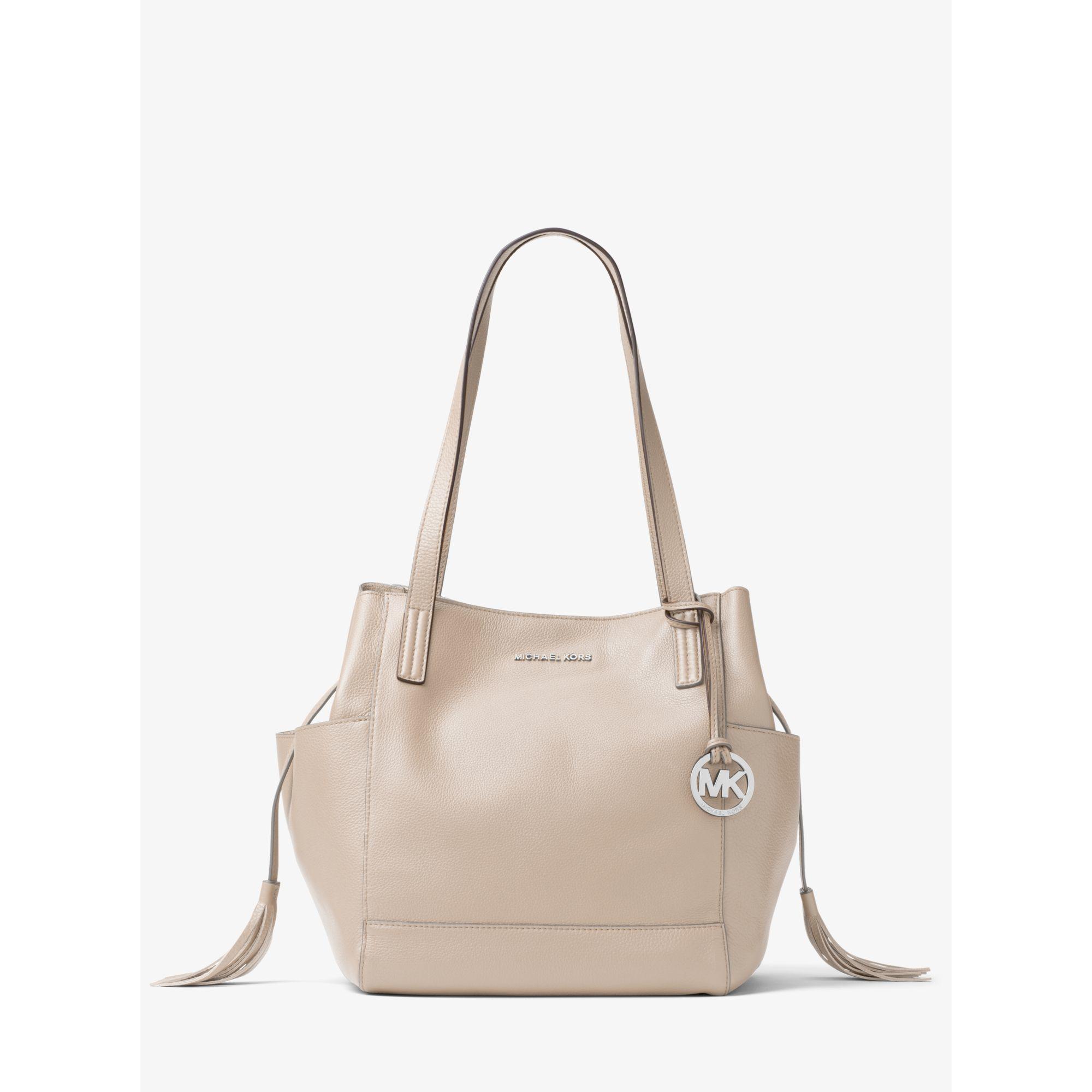 0cda1de286 Lyst - Michael Kors Ashbury Large Leather Shoulder Bag