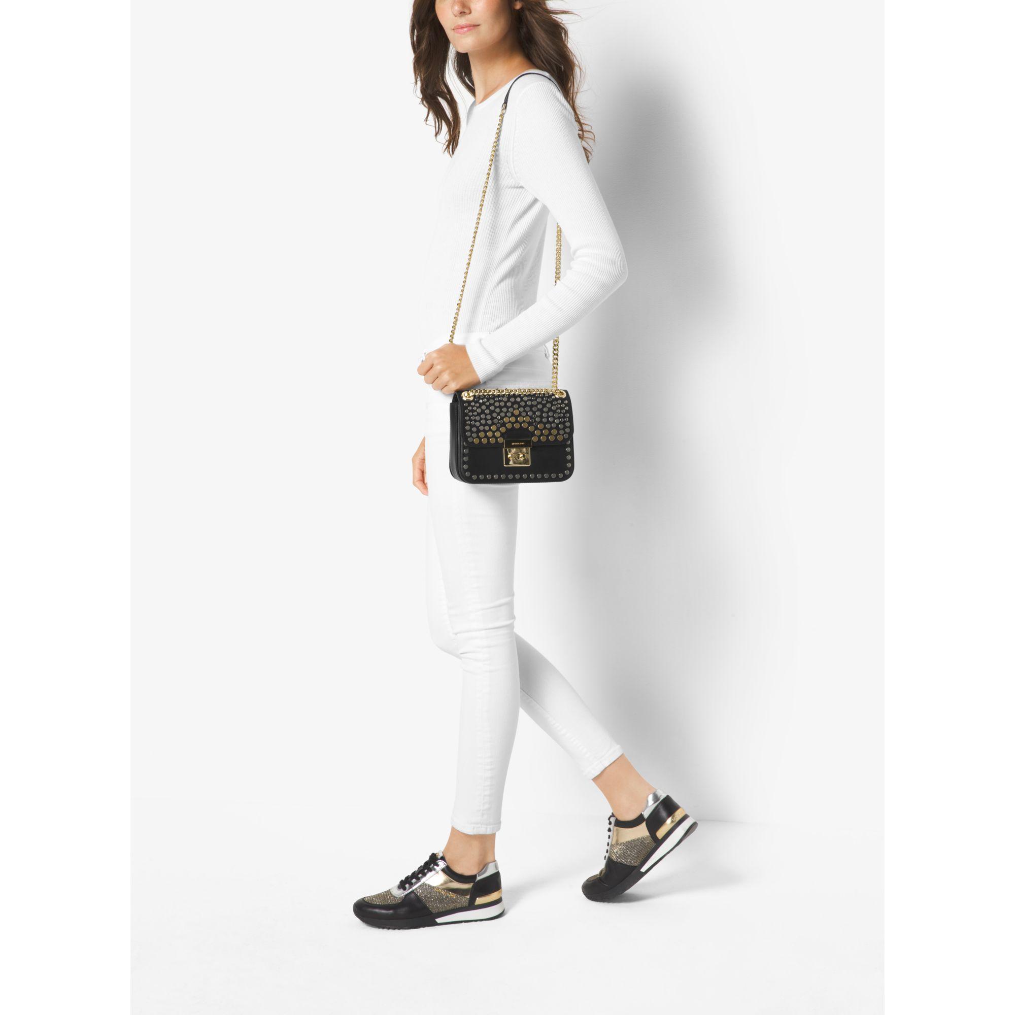 1a84c0a97e328 Gallery. Women s Michael By Michael Kors Sloan Women s Denim Shoulder Bags  ...
