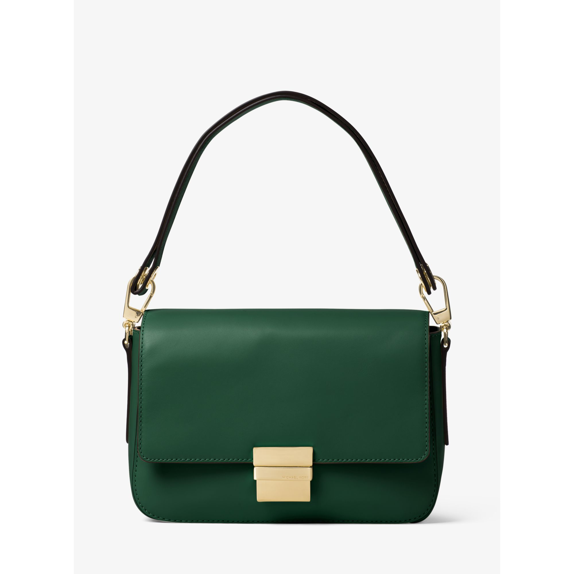Michael kors Madelyn Large Leather Shoulder Bag in Green | Lyst