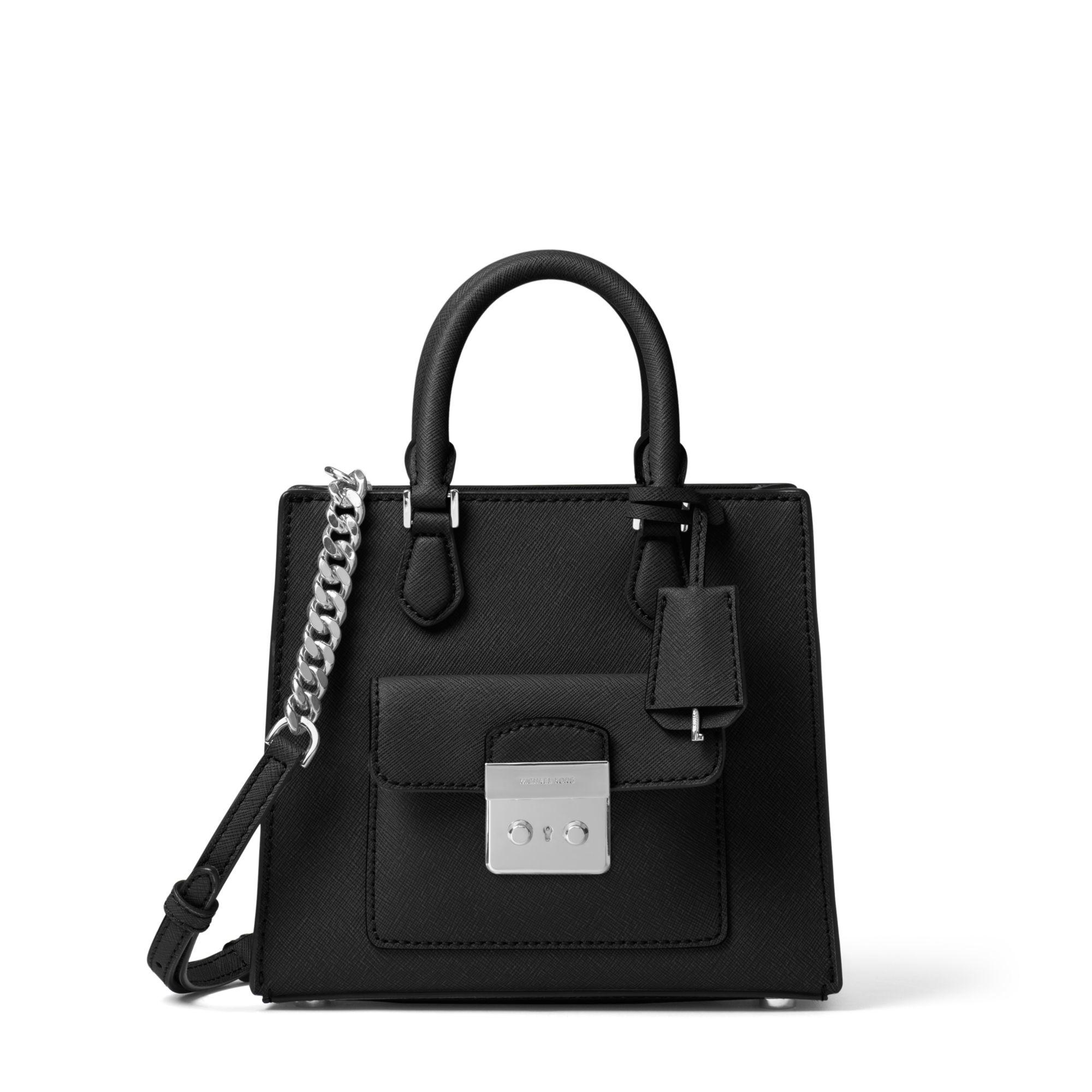 6d4280fca9f733 Michael Kors Bridgette Small Saffiano Leather Crossbody Bag in Black ...