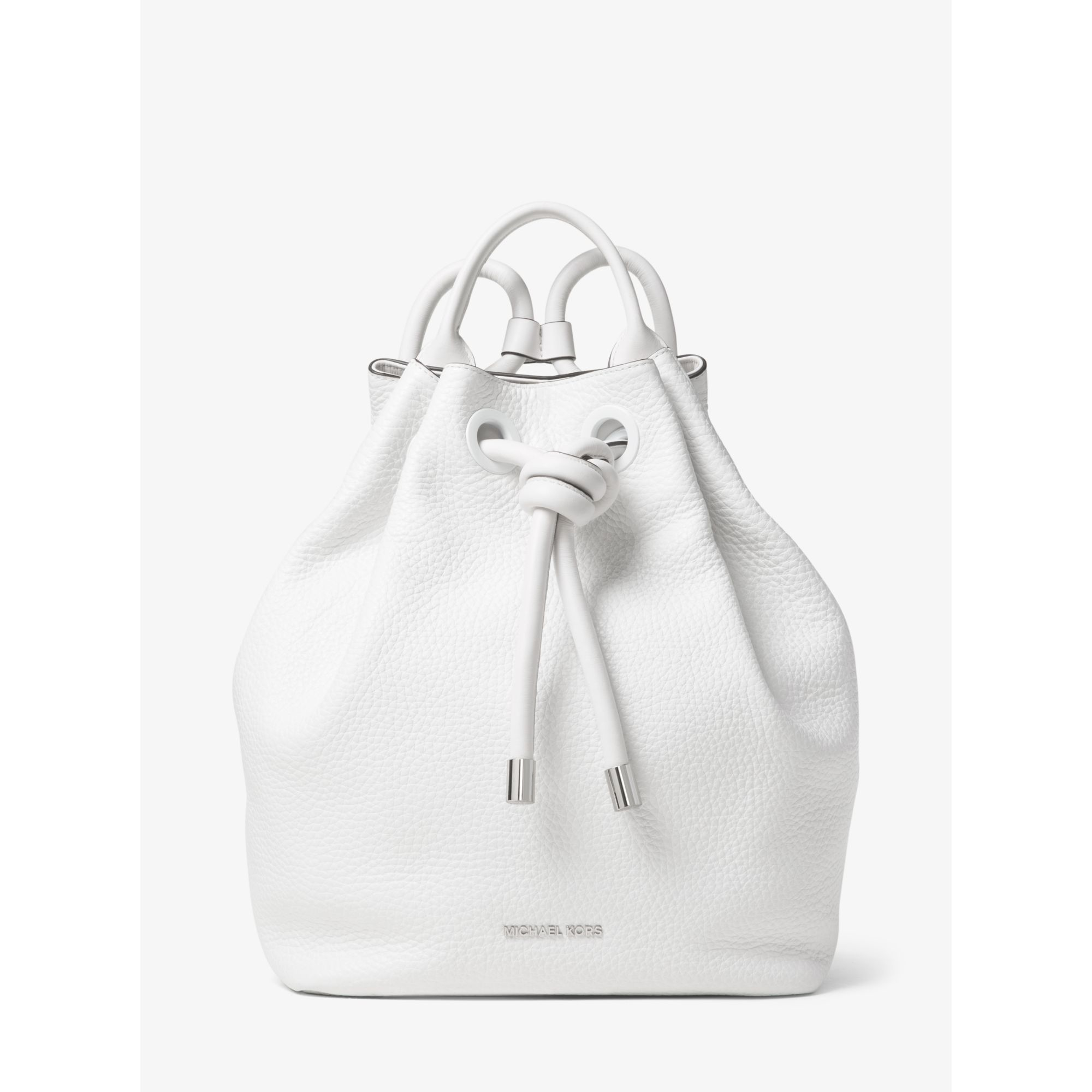 11421602ce6d ... spain lyst michael kors dalia large leather backpack in white 4cd67  99f73
