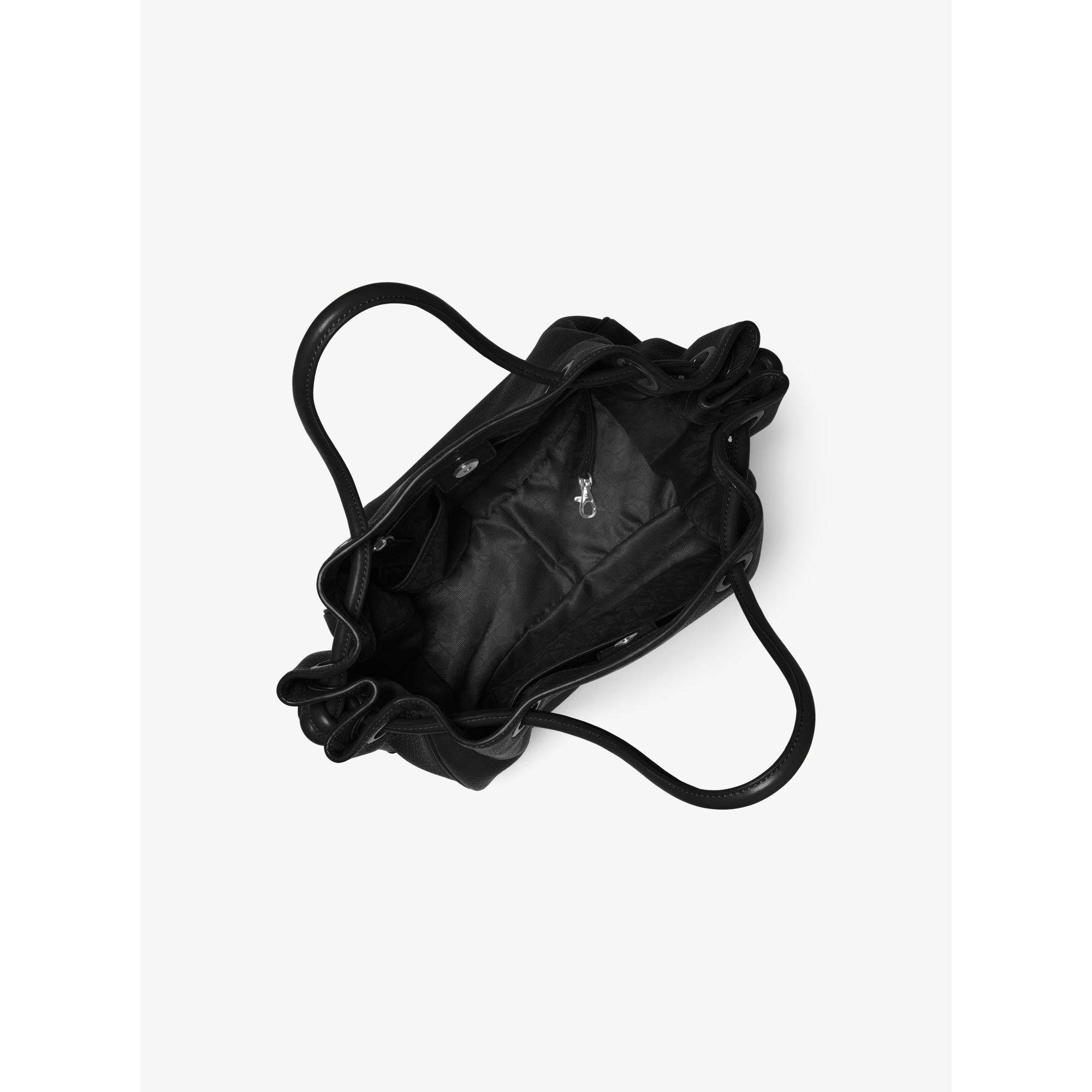 69b67764c3eb Michael Kors Dalia Large Leather Tote in Black - Lyst