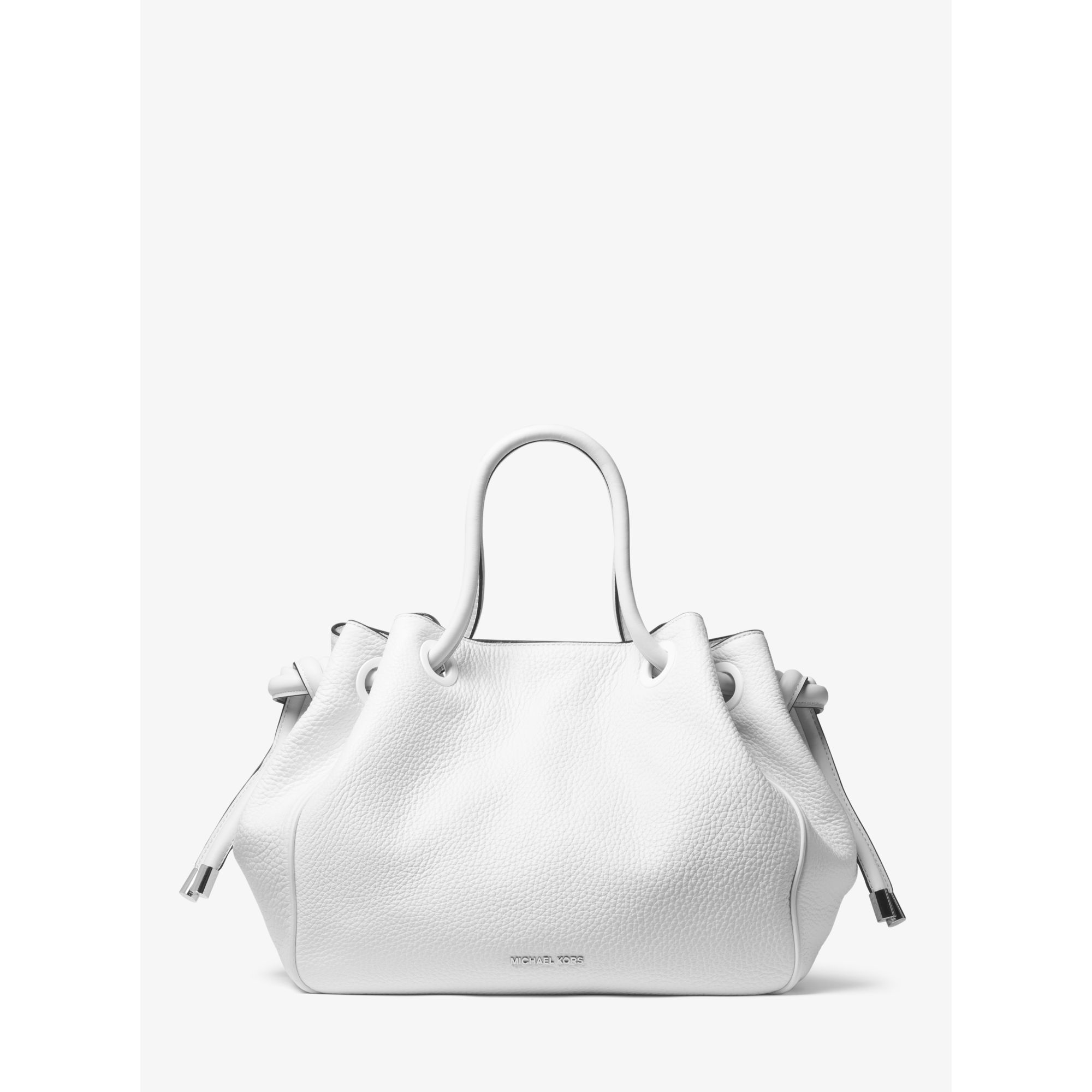 cc78e5ca8c9e64 Michael Kors Dalia Large Leather Tote in White - Lyst