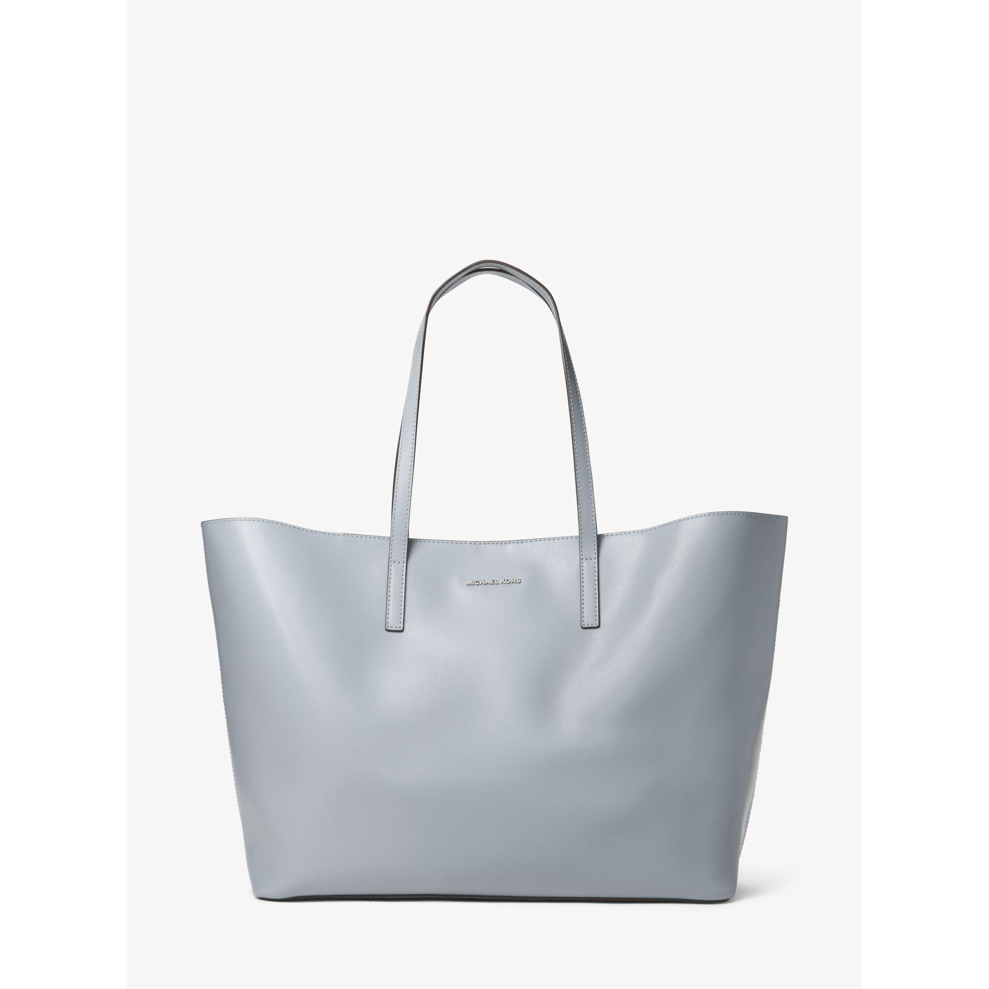 89786c4eda Lyst - Michael Kors Emry Extra-large Leather Tote in Blue