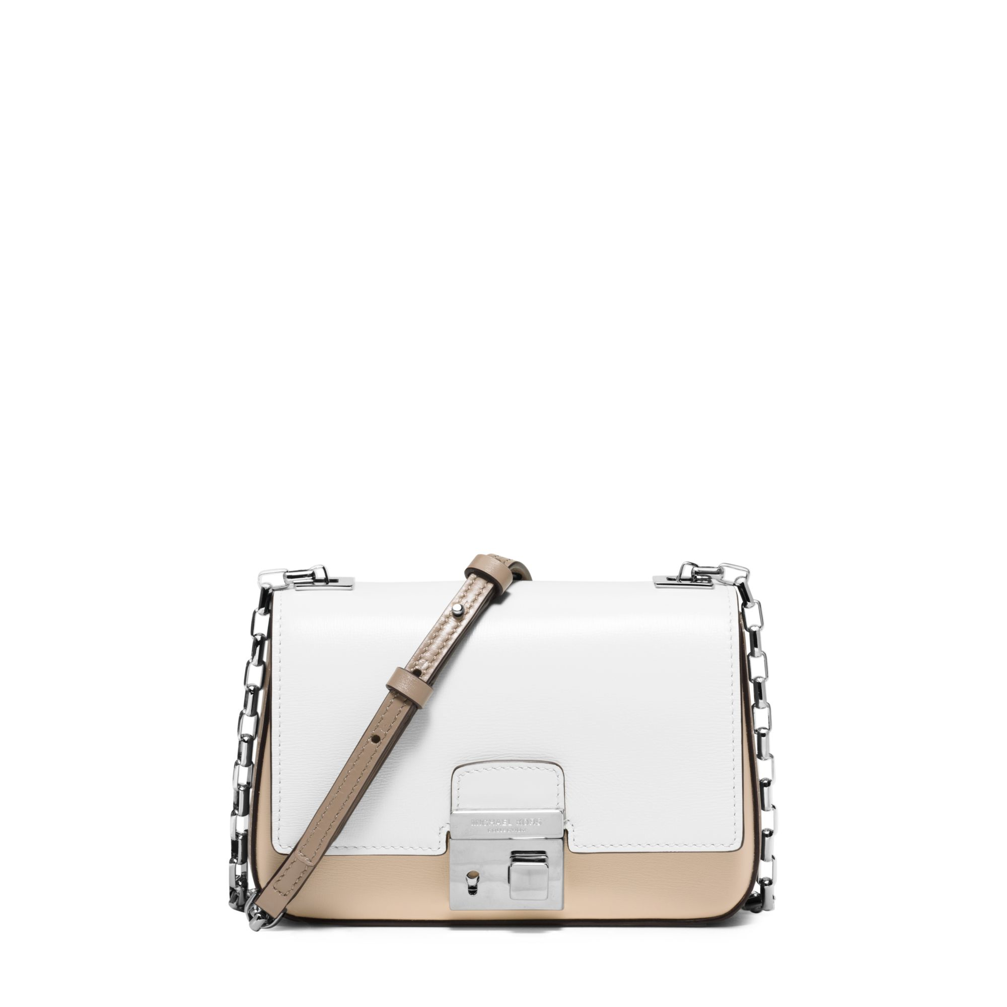 a048775baa3 Lyst - Michael Kors Gia Small Color-block Leather Shoulder Bag in ...