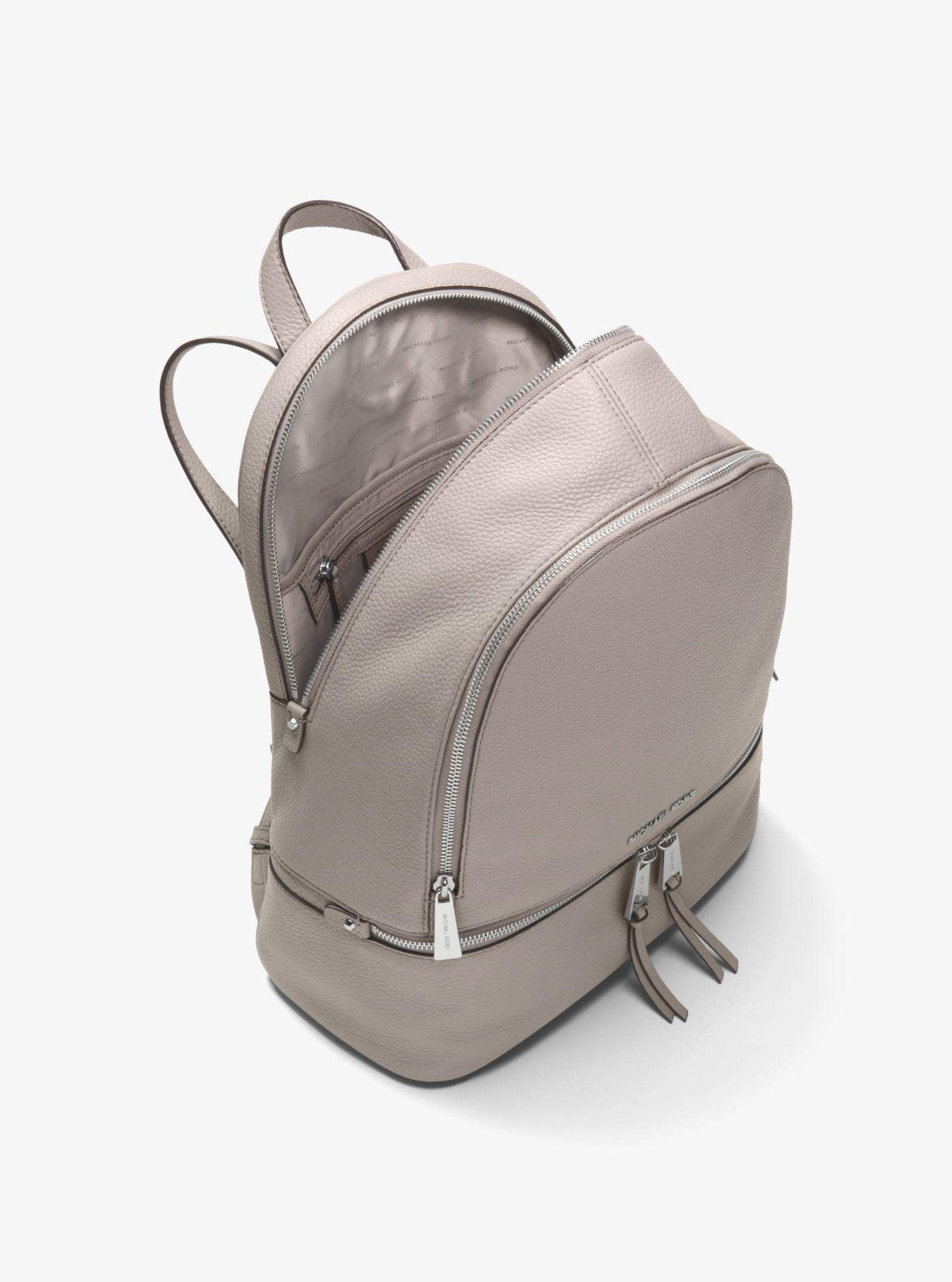 dc643ef39dc252 Michael Kors Gray Leather Backpack – Patmo Technologies Limited