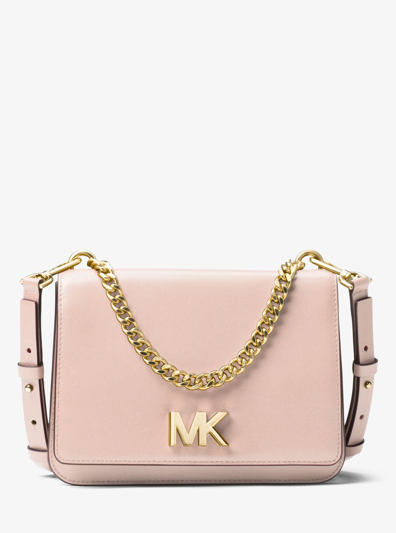 eebb2b00e931 MICHAEL Michael Kors - Pink Mott Leather Crossbody Bag - Lyst. View  fullscreen