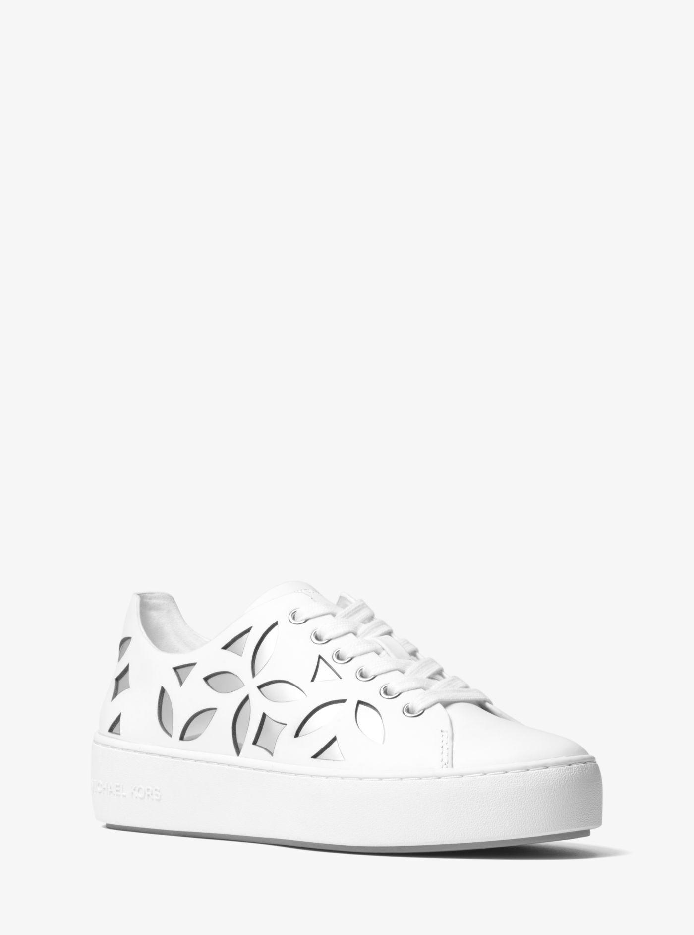 MICHAEL Michael Kors Mimi Perforated Leather Lace Up Sneakers cj815