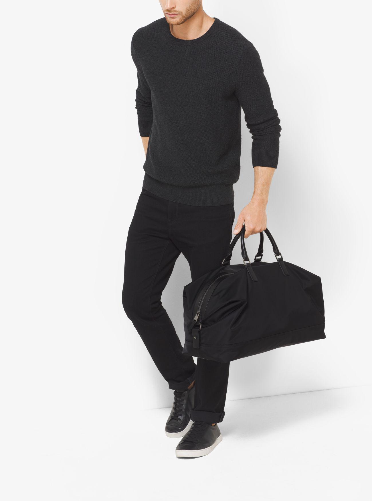 482d7f23e5d8 Lyst - Michael Kors Kent Large Nylon Duffel in Black for Men