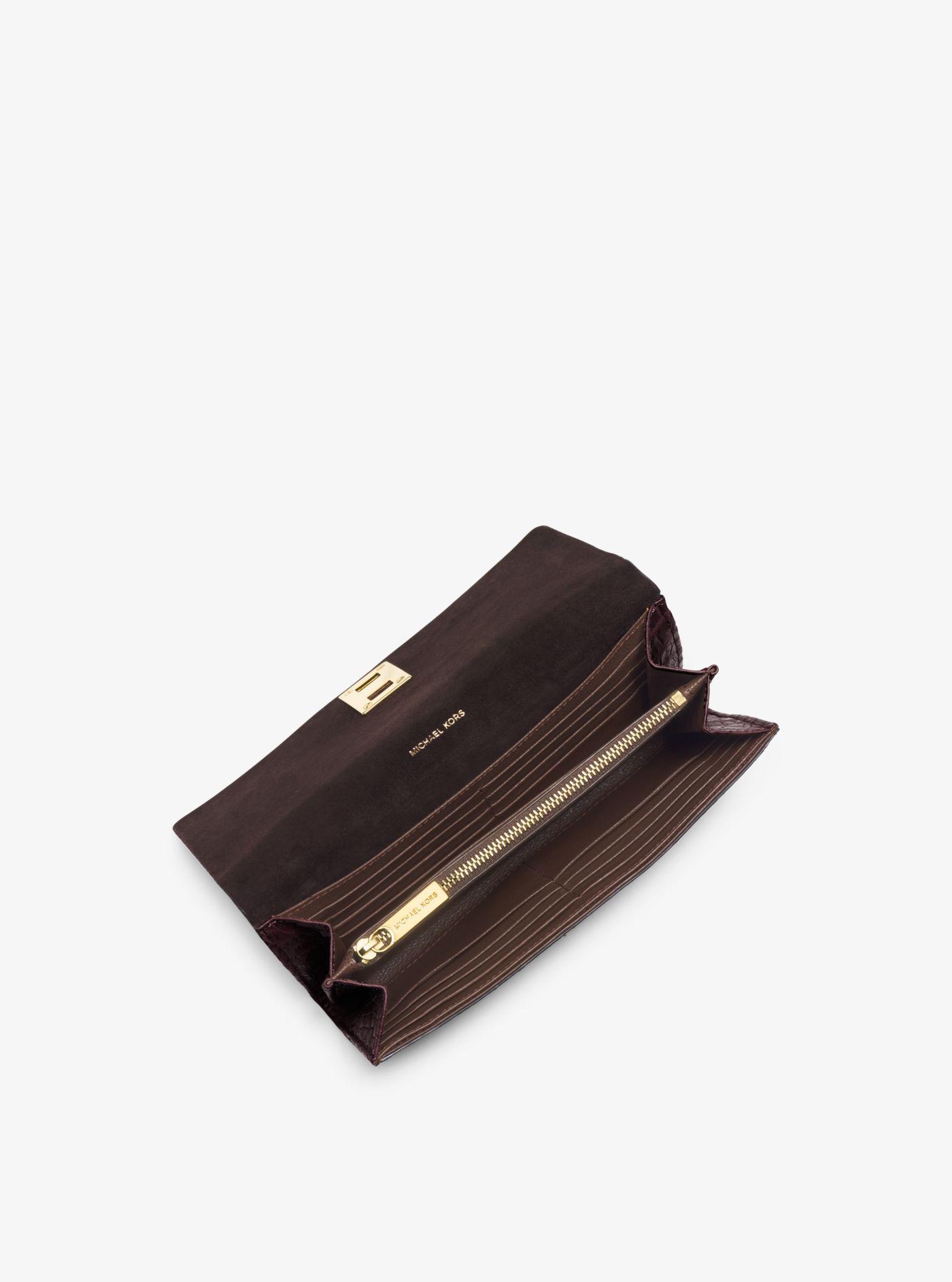 6b41af64c1b7 ... good lyst michael kors miranda continental wallet in purple for men  0a204 8fc17