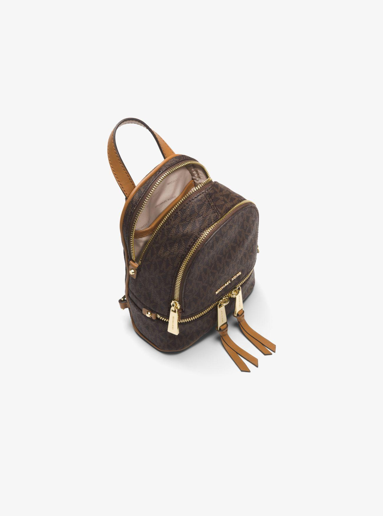 d6d862381da2 Michael Kors - Brown Rhea Mini Logo Backpack - Lyst. View fullscreen