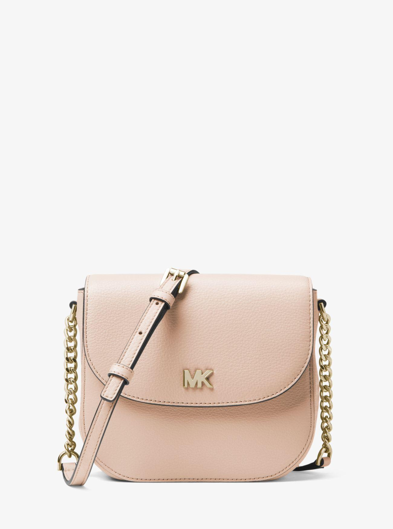 c7106441c0c2 MICHAEL Michael Kors Half Dome Leather Crossbody in Pink - Save 46 ...
