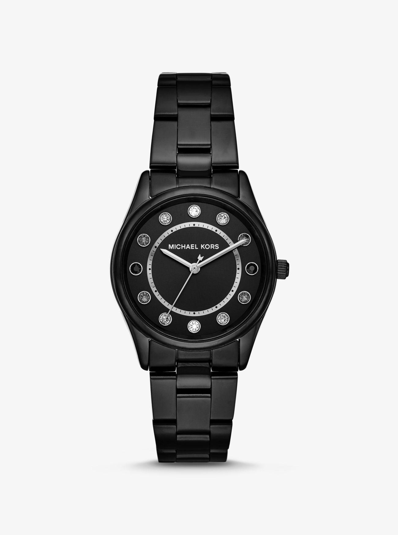 785536de023f Michael Kors Colette Black-tone Watch in Black - Lyst