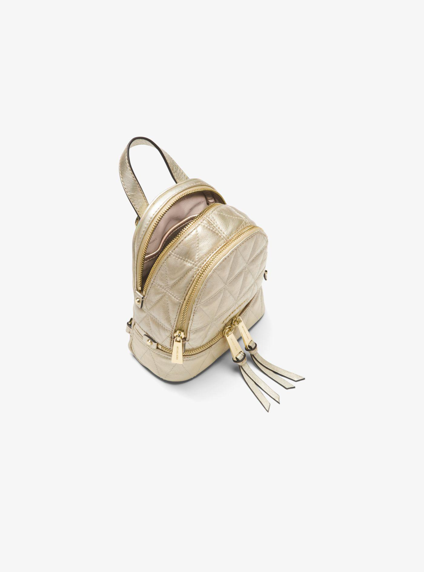a31d97d565da Rhea Mini Metallic Quilted Leather Backpack - Best Quilt Grafimage.co