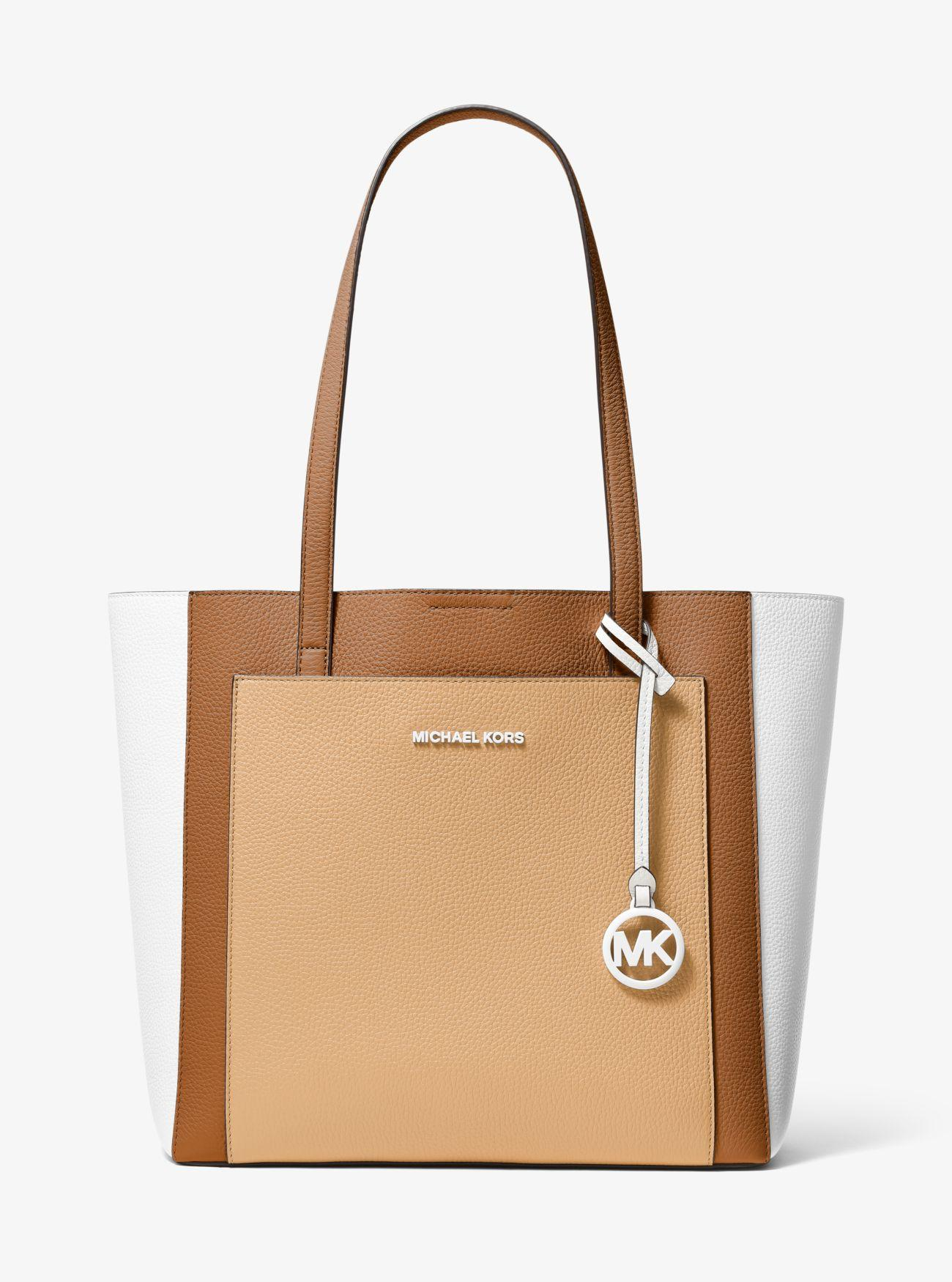bcae0e689b61 Michael Kors - Multicolor Gemma Large Tri-color Pebbled Leather Tote - Lyst.  View fullscreen