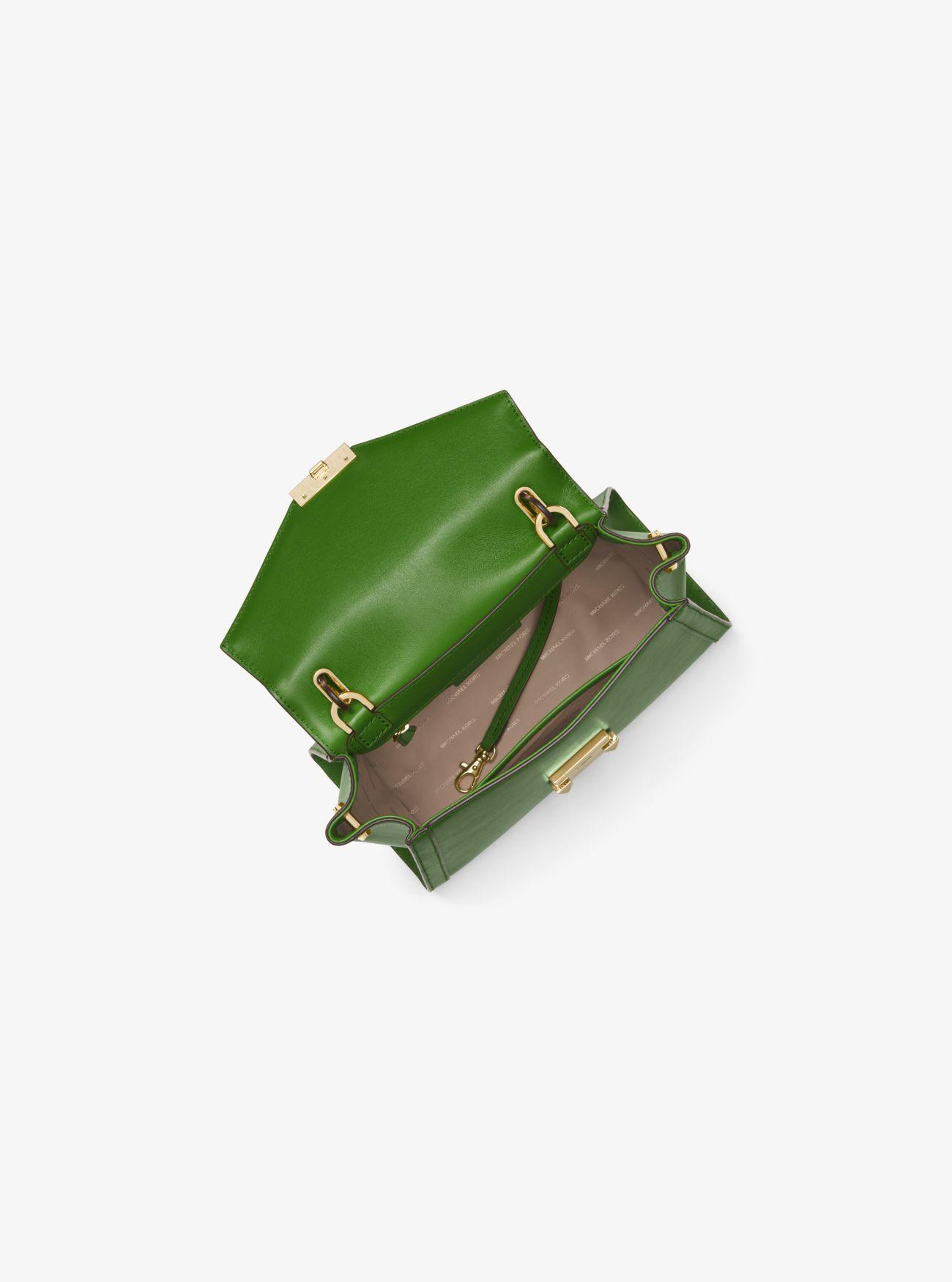 3cb7cdecb930 Michael Kors Whitney Medium Leather Satchel in Green - Lyst