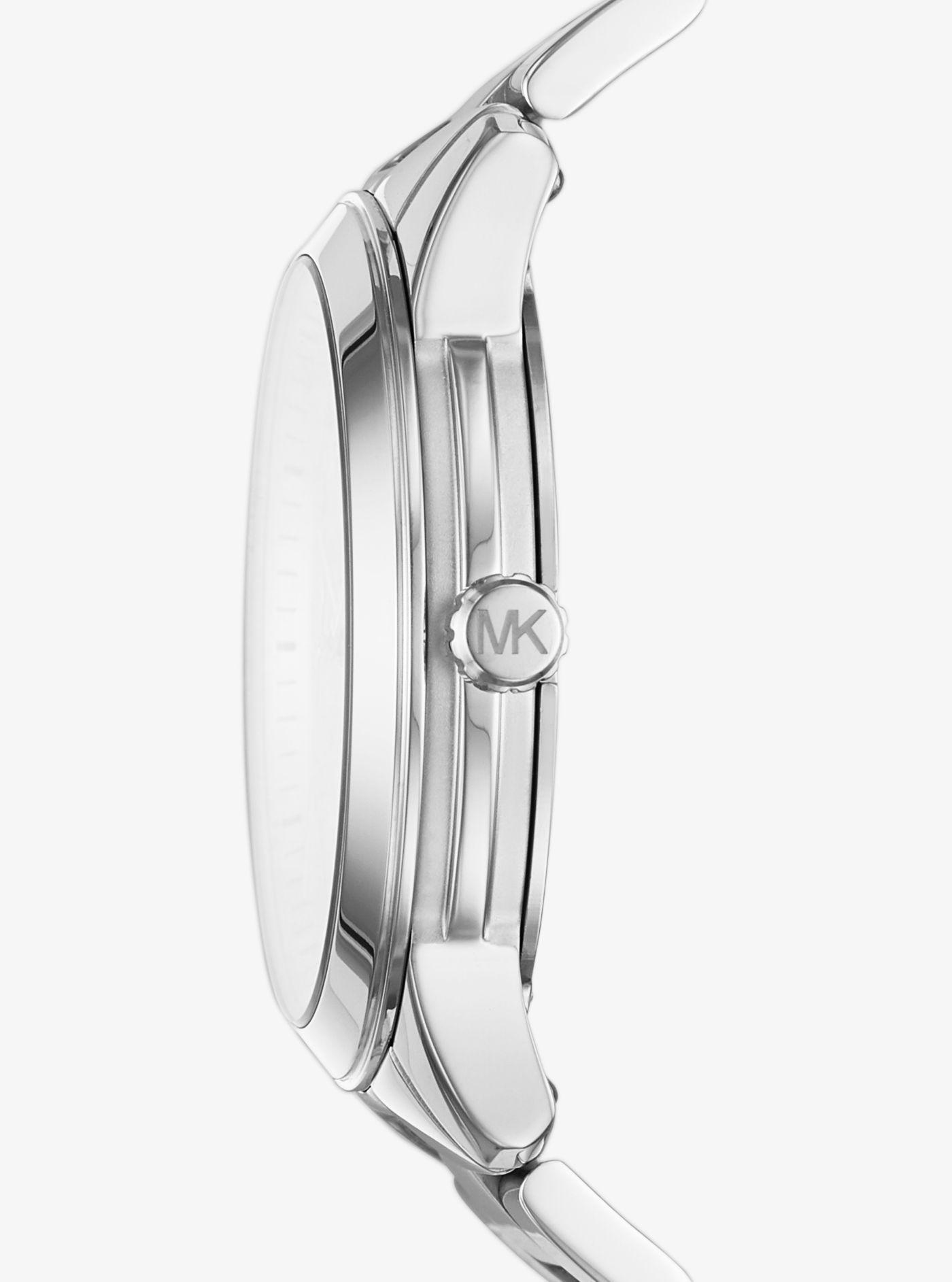 5c0cf28a1634 Michael Kors - Metallic Runway Silver-tone Watch - Lyst. View fullscreen