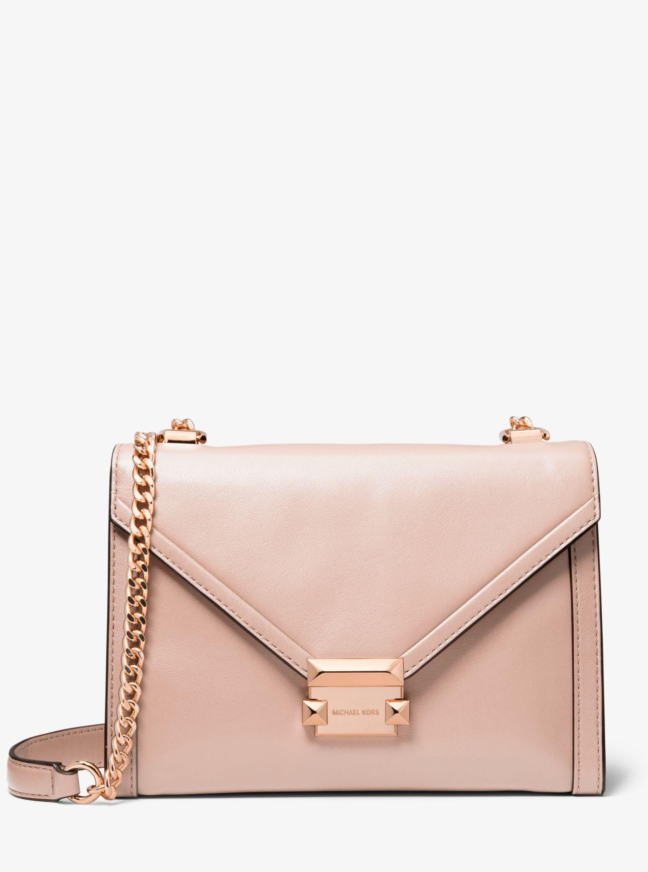 af5d35884cd5b Michael Kors - Pink Whitney Large Leather Convertible Shoulder Bag - Lyst.  View fullscreen