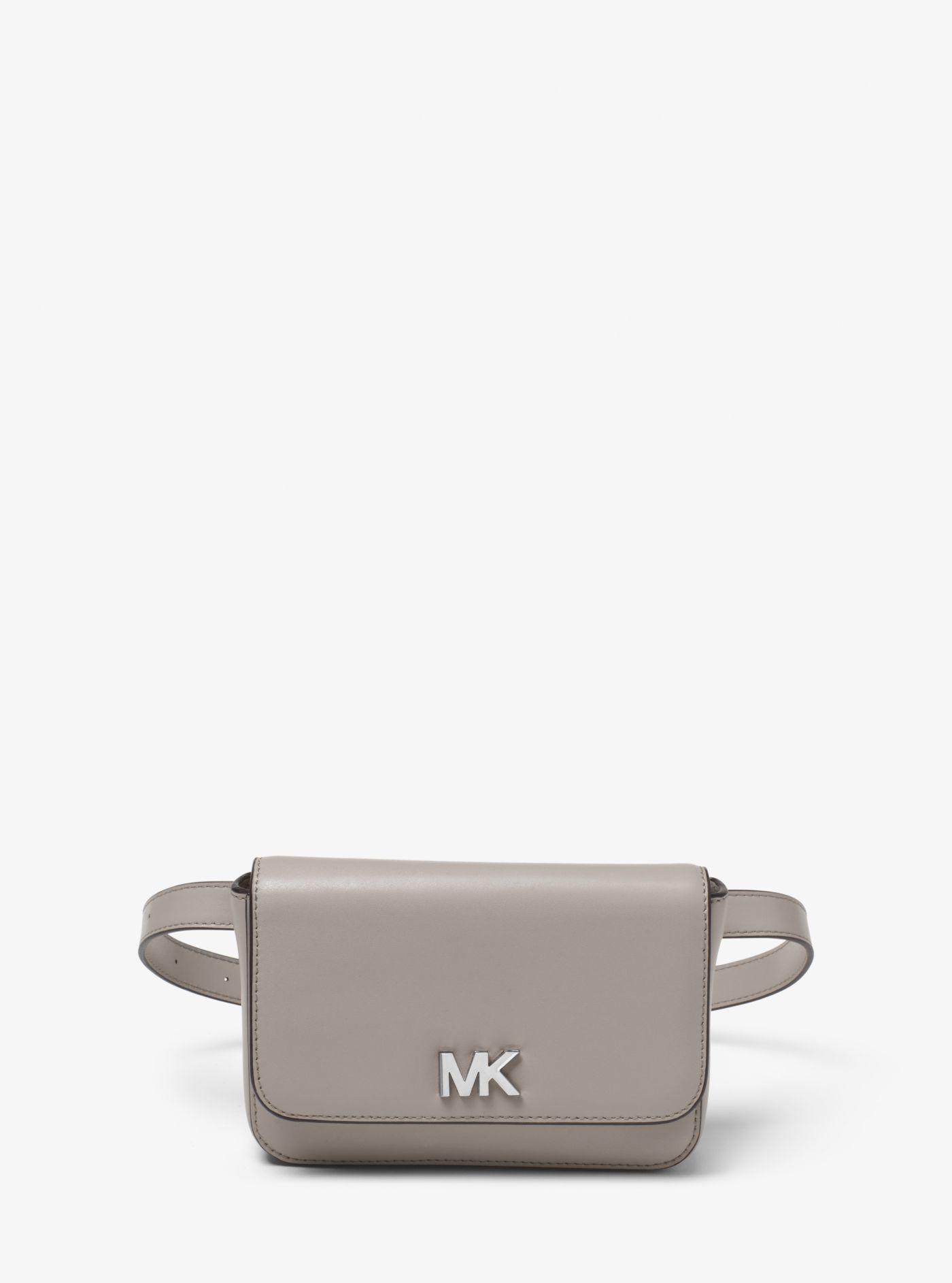f51c7bebcb4af Lyst - Michael Kors Mott Leather Belt Bag in Gray