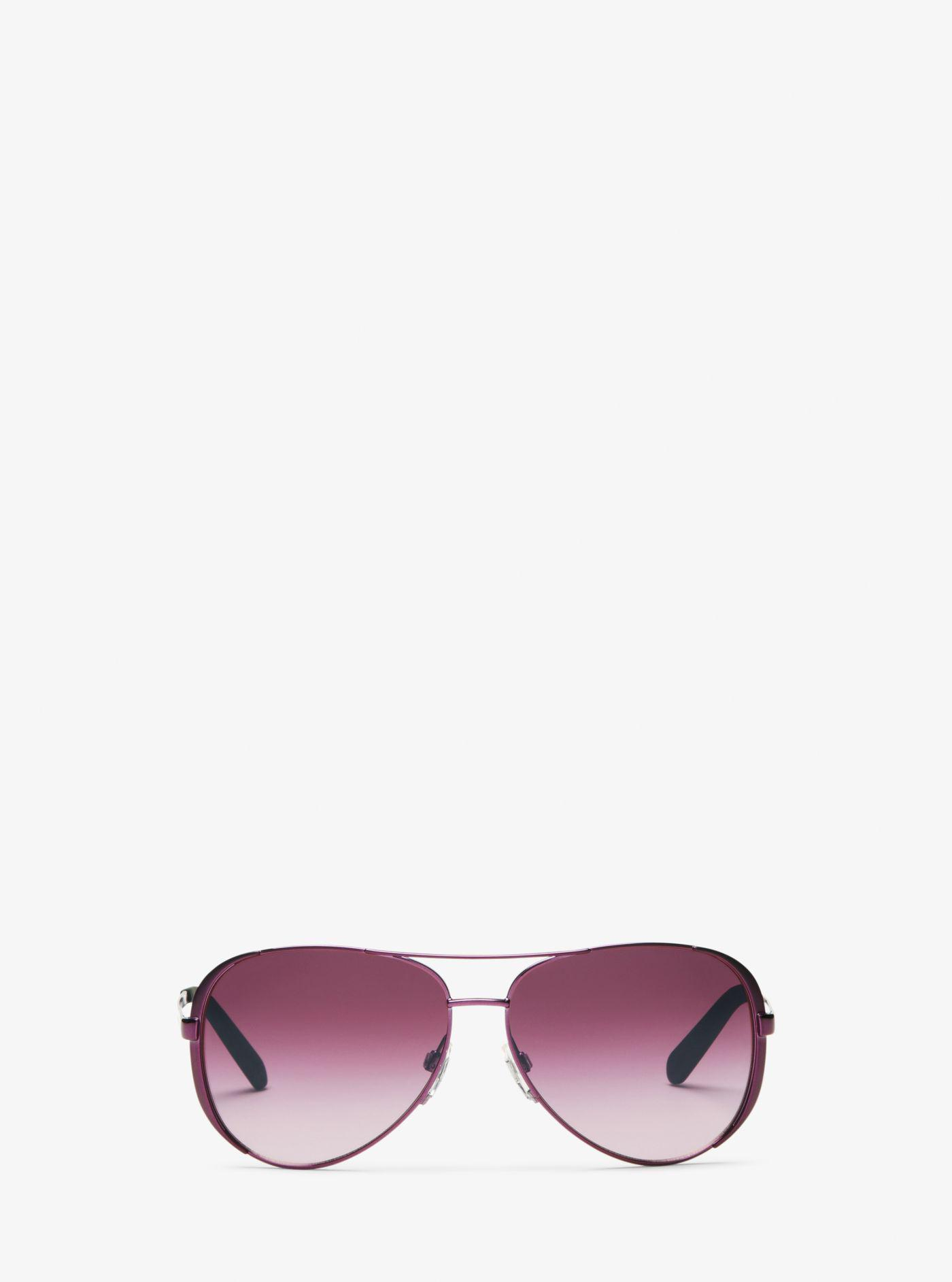 34b16d2d36 Lyst - Michael Kors Chelsea Sunglasses in Purple