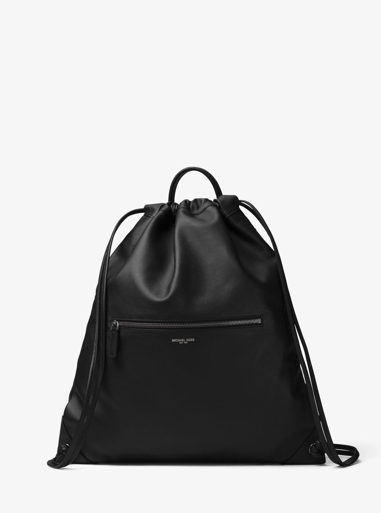 71dd8fc03465ec Michael Kors Dylan Leather Drawstring Backpack in Black for Men - Lyst
