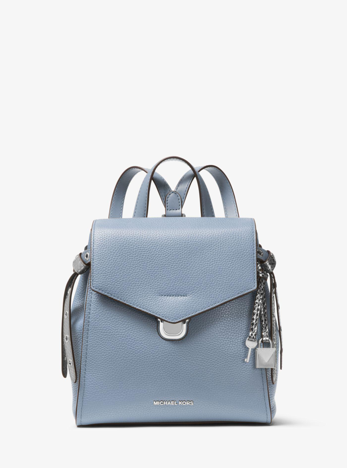 80f3857f4d645a Michael Kors Bristol Small Leather Backpack in Blue - Lyst
