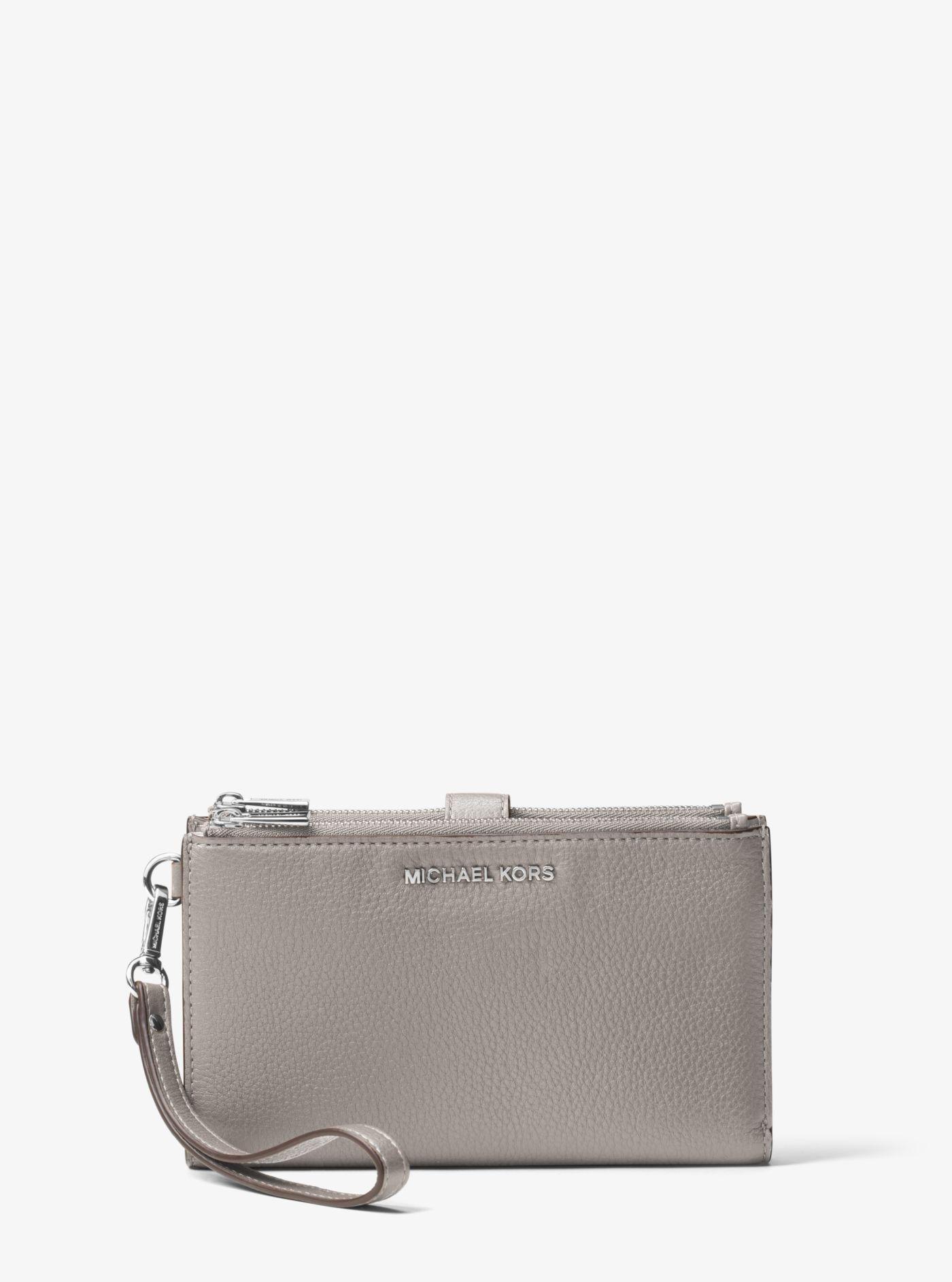 daf49375b40d Michael Kors - Gray Adele Leather Smartphone Wallet - Lyst. View fullscreen