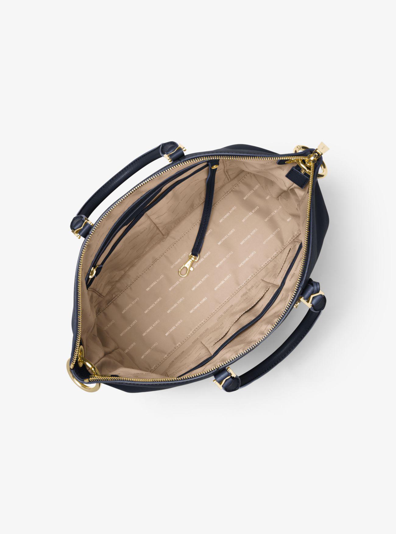 4079d109f6 Lyst - Michael Kors Beckett Large Leather Satchel