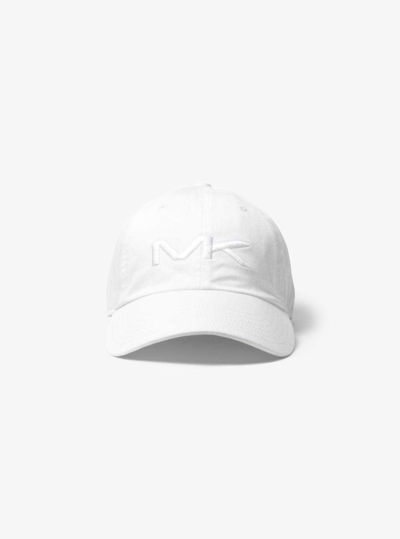50f555e74ba Michael Kors Logo Cotton Baseball Hat in White for Men - Lyst