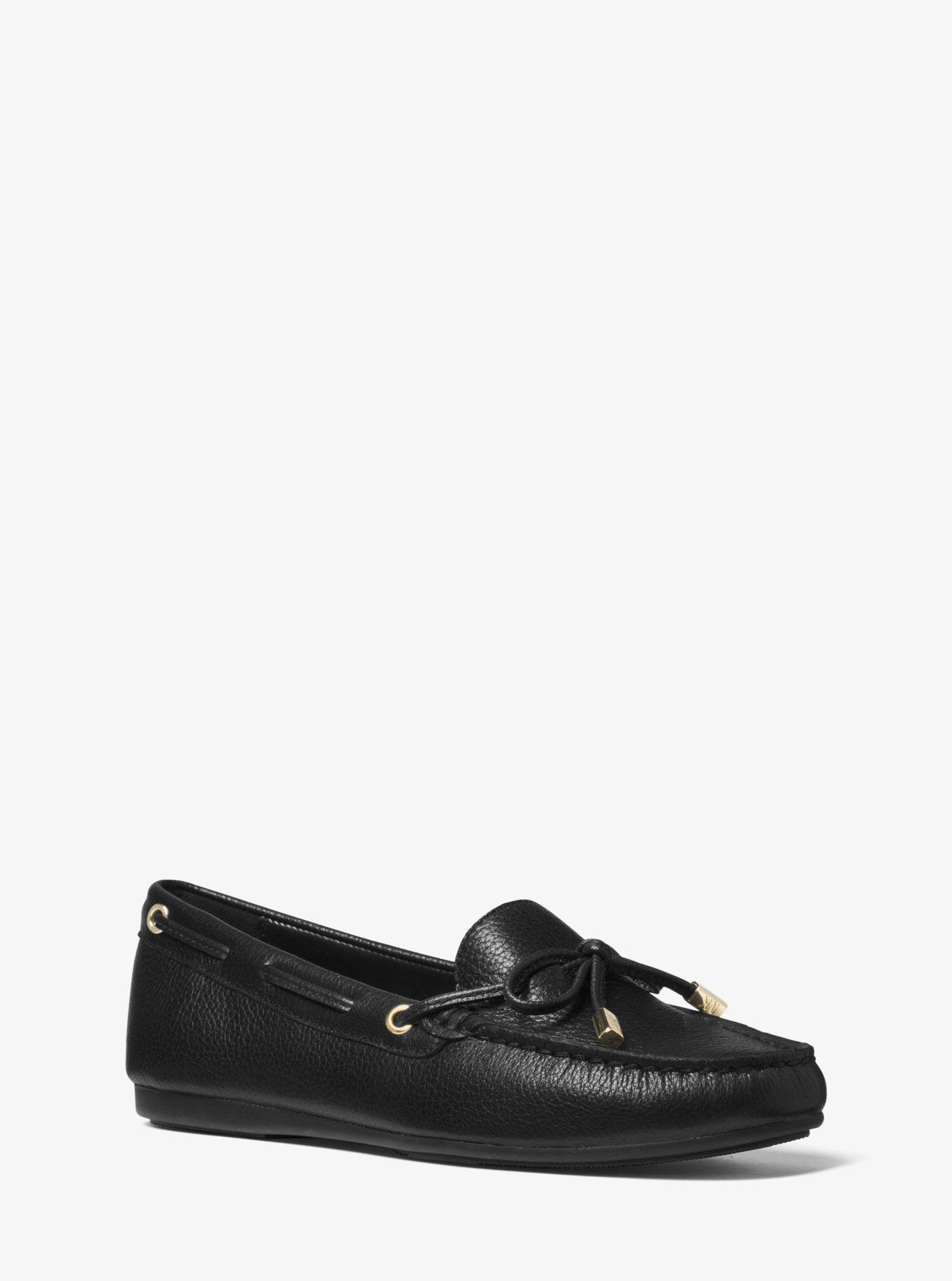 1c153b64444 Lyst - Michael Kors Sutton Leather Moccasin in Black