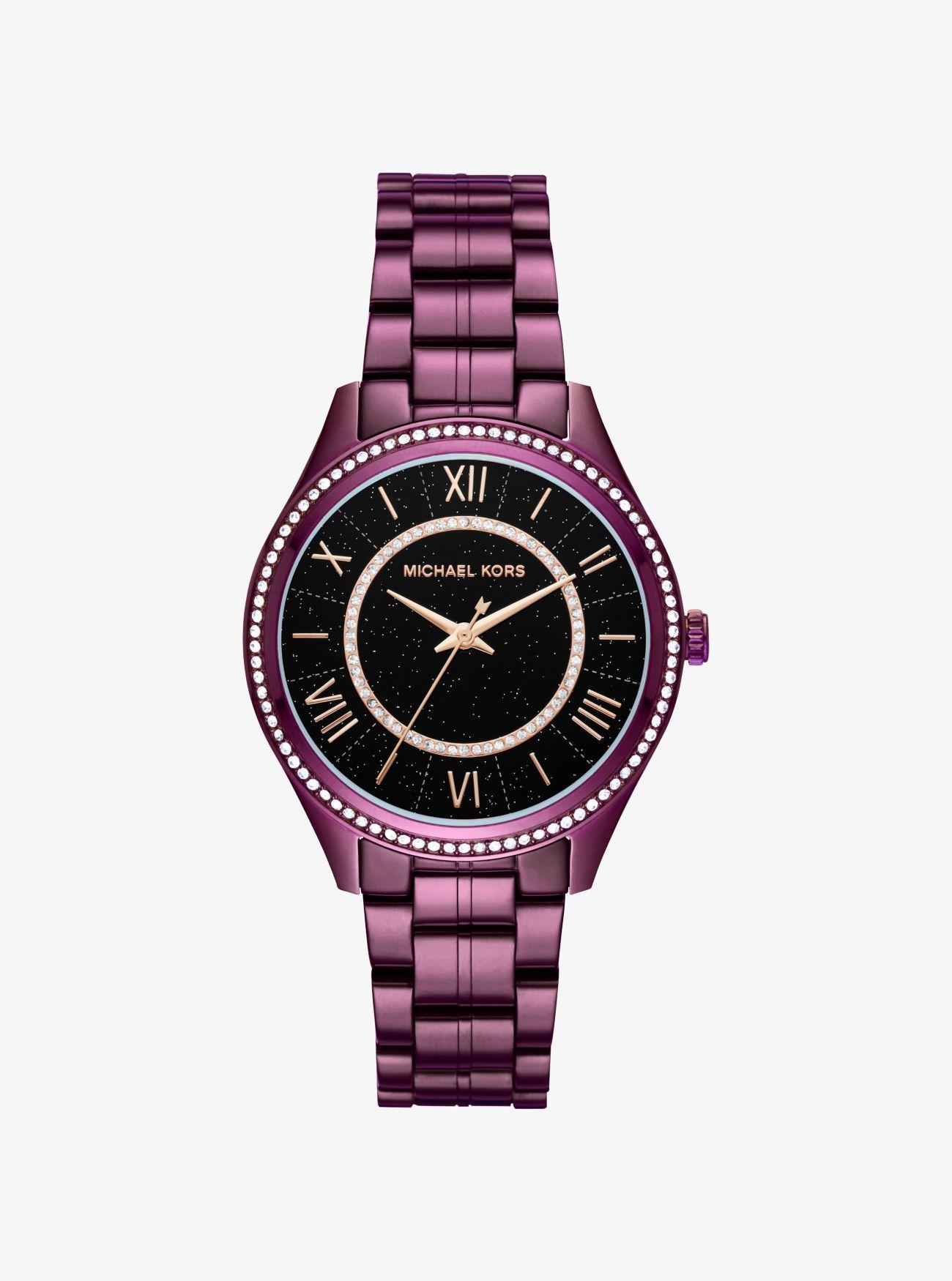 Cósmicas Reloj Tono Ciruela En Lauryn Con Incrustaciones Michael 34RjAL5q