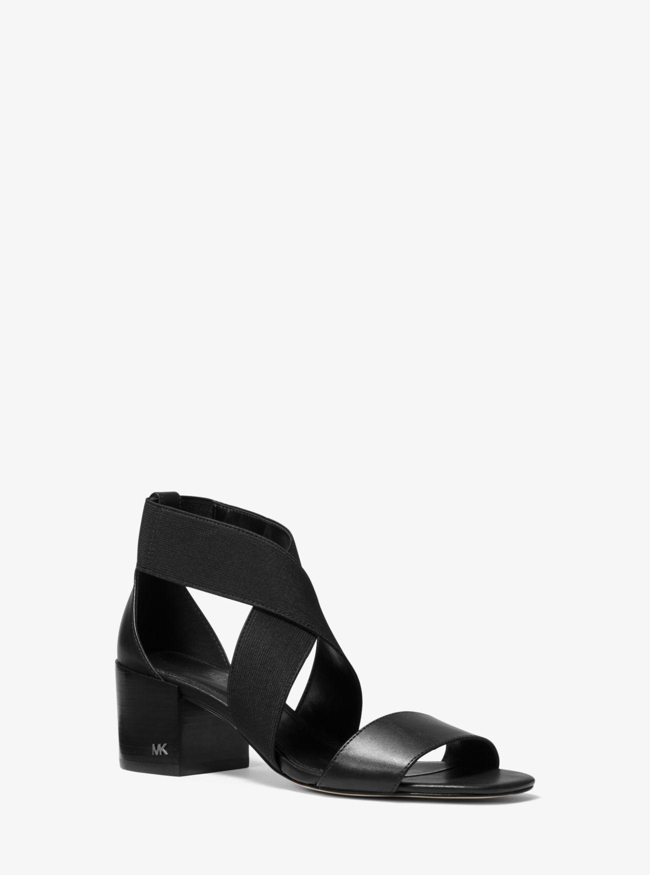 0dd0331cba5 Lyst - MICHAEL Michael Kors Meadow Elastic And Leather Sandal in Black