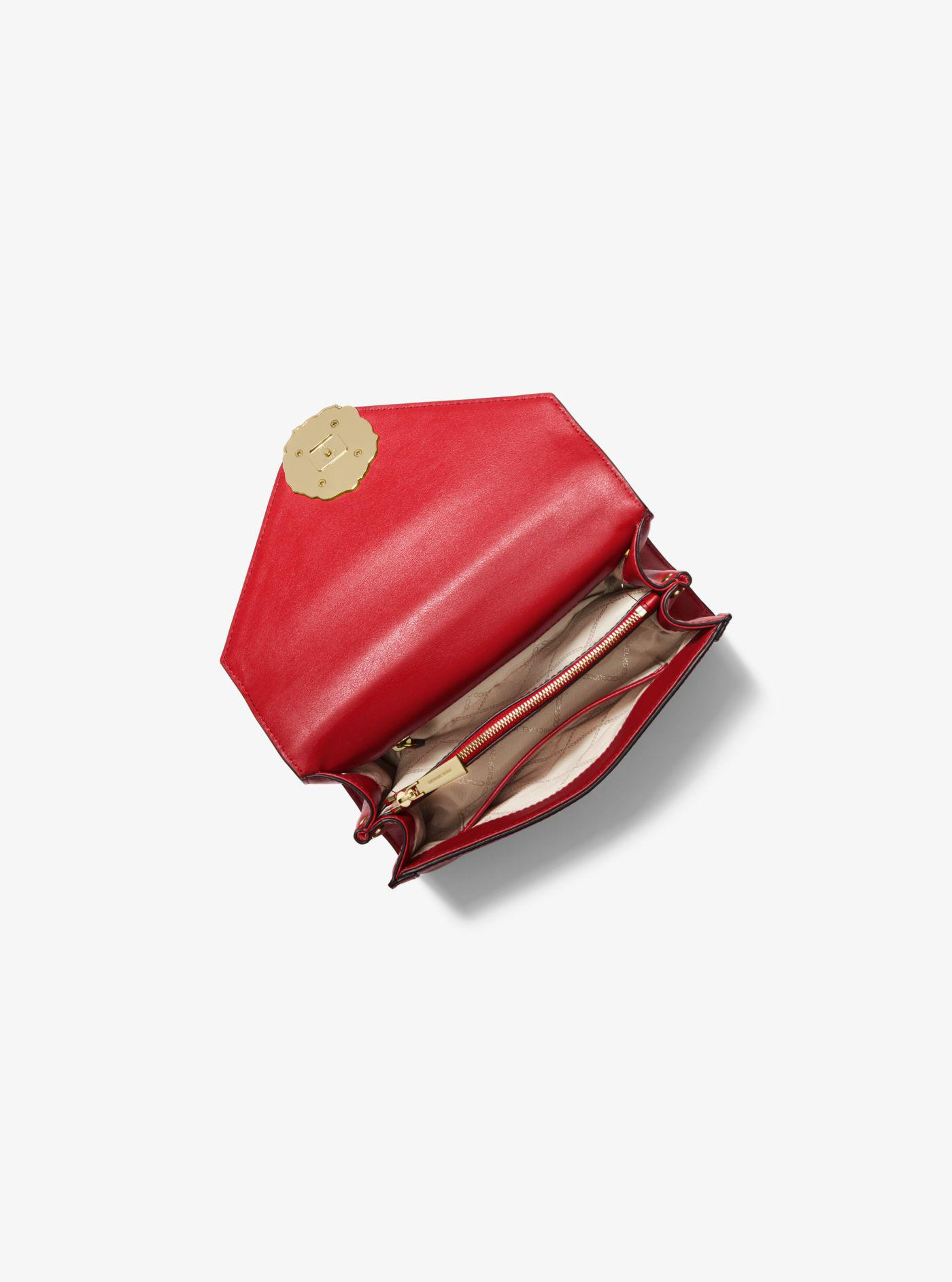 5fc68d5360574 Michael Kors - Red Whitney Large Petal Quilted Leather Convertible Shoulder  Bag - Lyst. View fullscreen