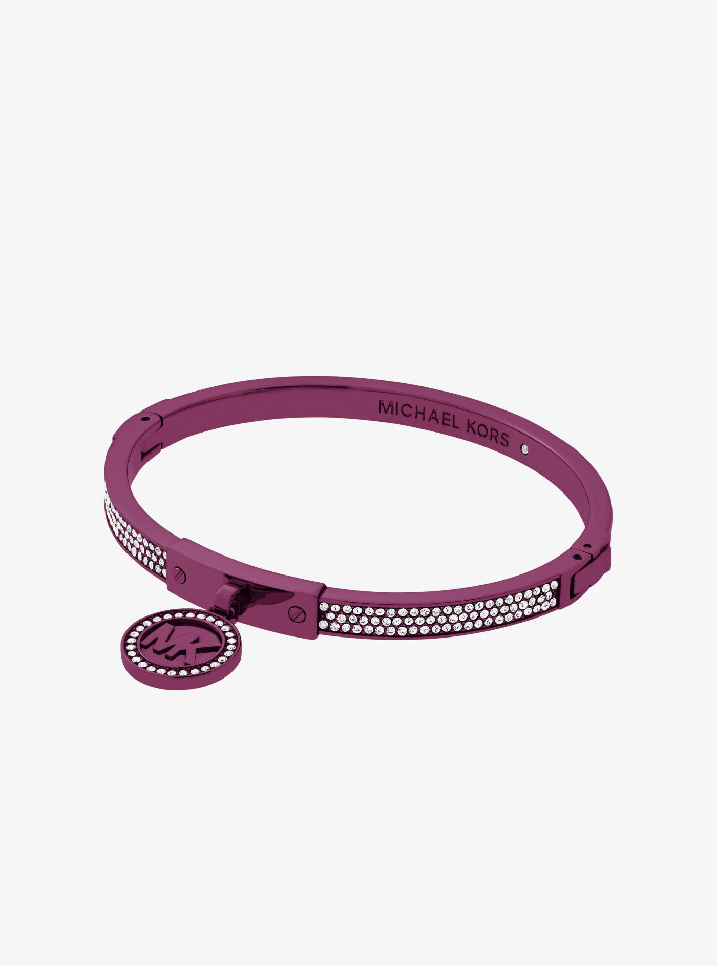 Michael Kors Fulton Plum-Tone Bangle WTmwciODQ5