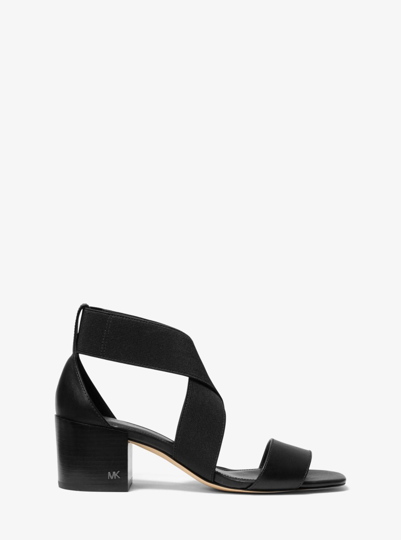 1074ab4f5d3 MICHAEL Michael Kors - Black Meadow Elastic And Leather Sandal - Lyst. View  fullscreen