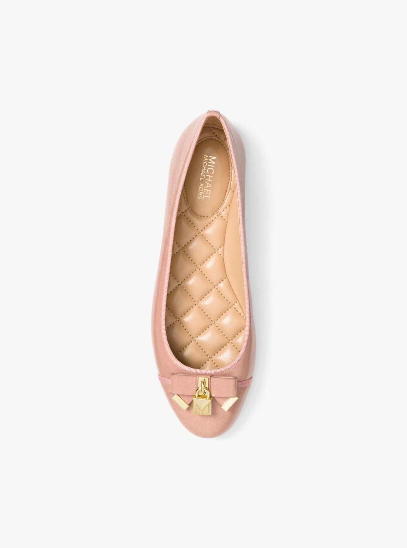 a498755e2515 Michael Kors Alice Leather Ballet Flat in Pink - Lyst