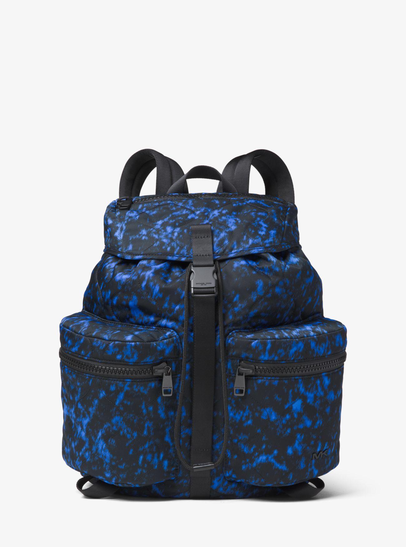 41f8a532df7d Michael Kors - Blue Kent Volcanic-print Nylon Backpack for Men - Lyst. View  fullscreen