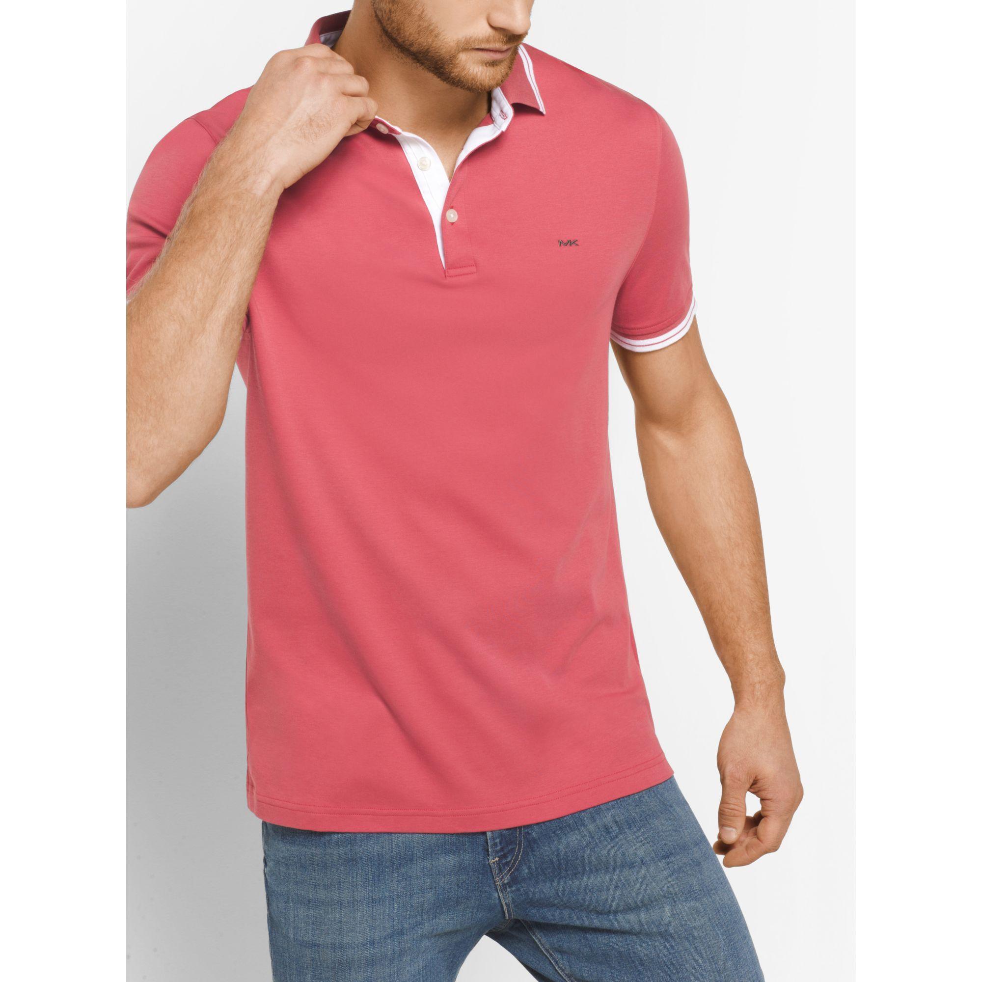 Michael Kors Greenwich Cotton Polo Shirt For Men Lyst