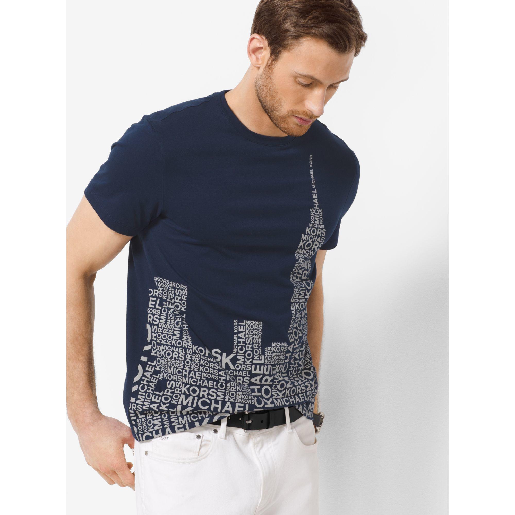 a7f61d63798 Michael Kors Skyline-print Jersey T-shirt in Blue for Men - Lyst