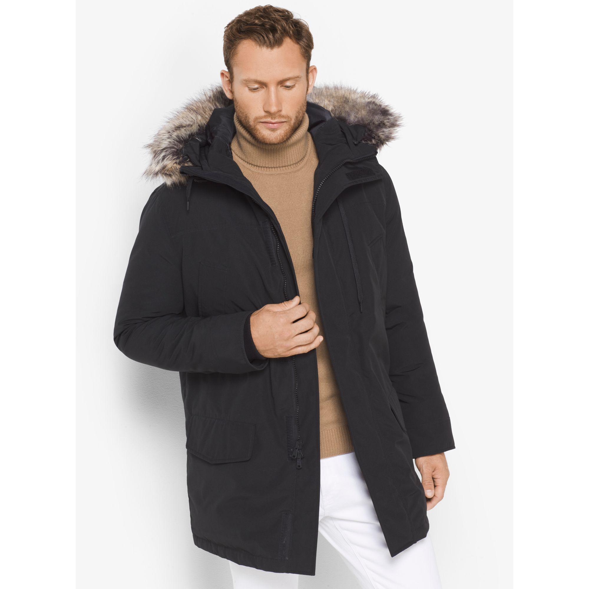 f50f0df4550a Lyst - Michael Kors Faux-fur Trimmed Tech Parka in Black for Men