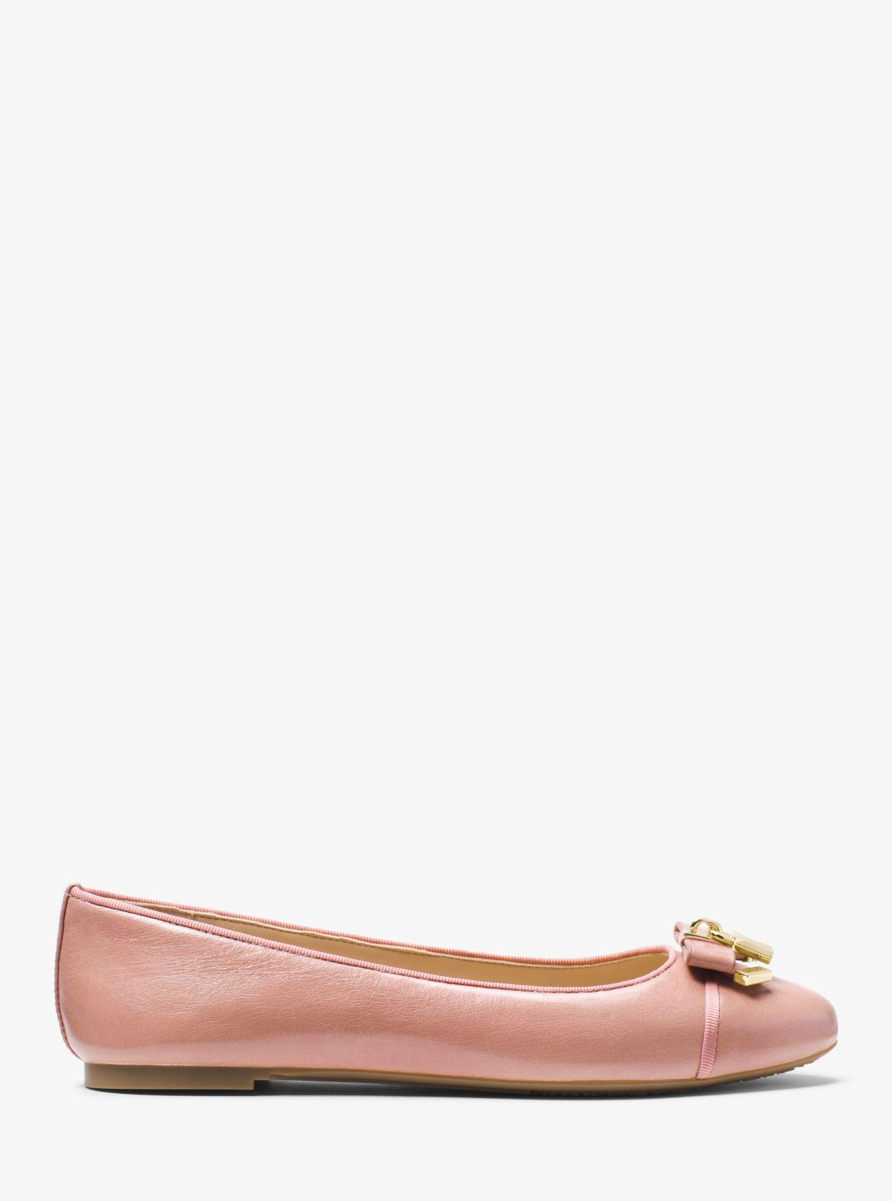 9678368c327c Lyst - Michael Kors Alice Leather Ballet Flat in Pink