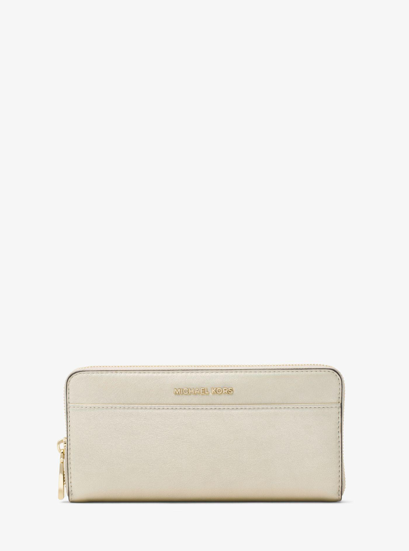 e754d73a5636 Michael Kors Jet Set Iridescent Leather Continental Wallet in ...