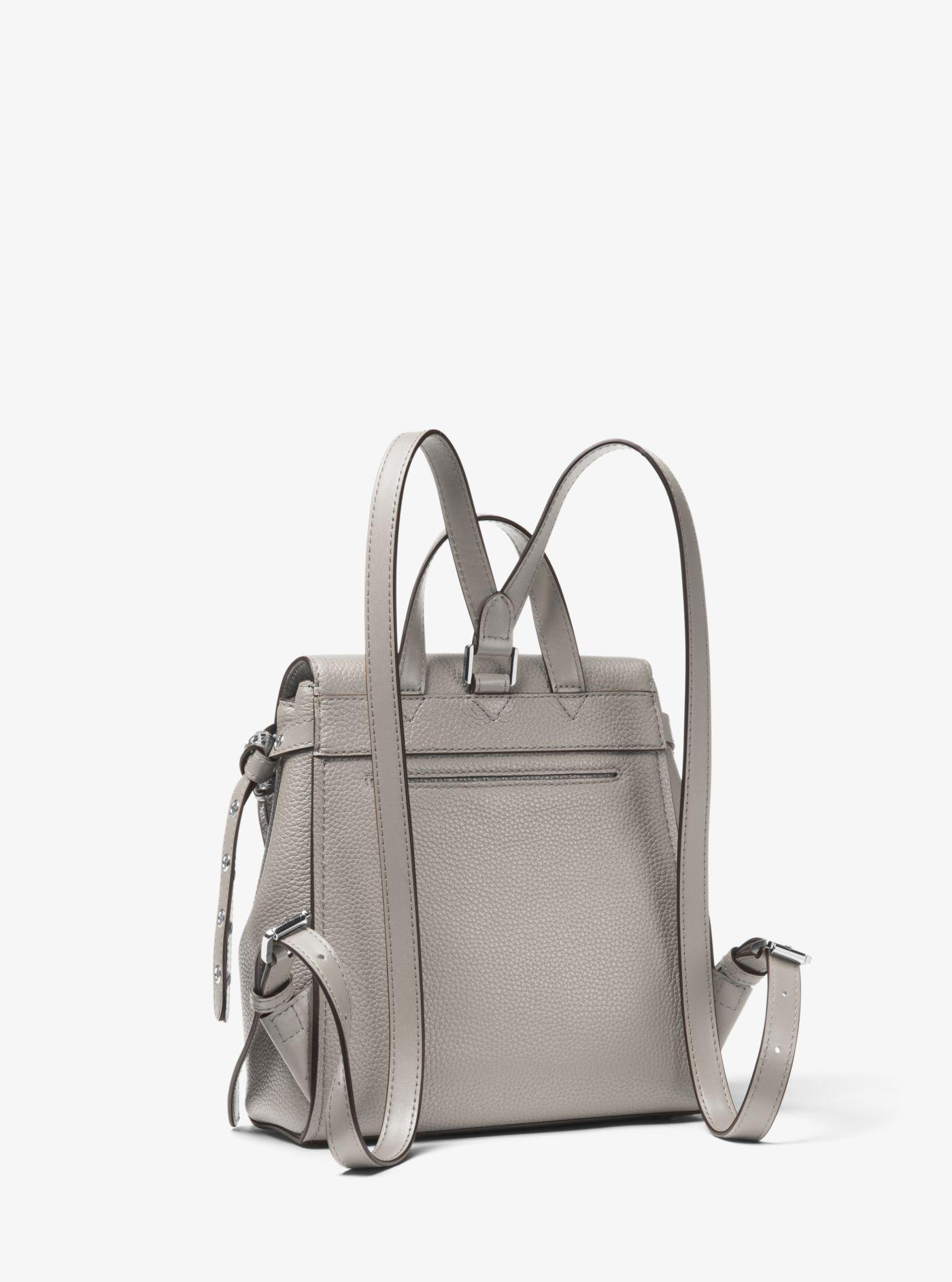 9f63c2b3b1d5 Lyst - Michael Kors Bristol Small Leather Backpack in Gray