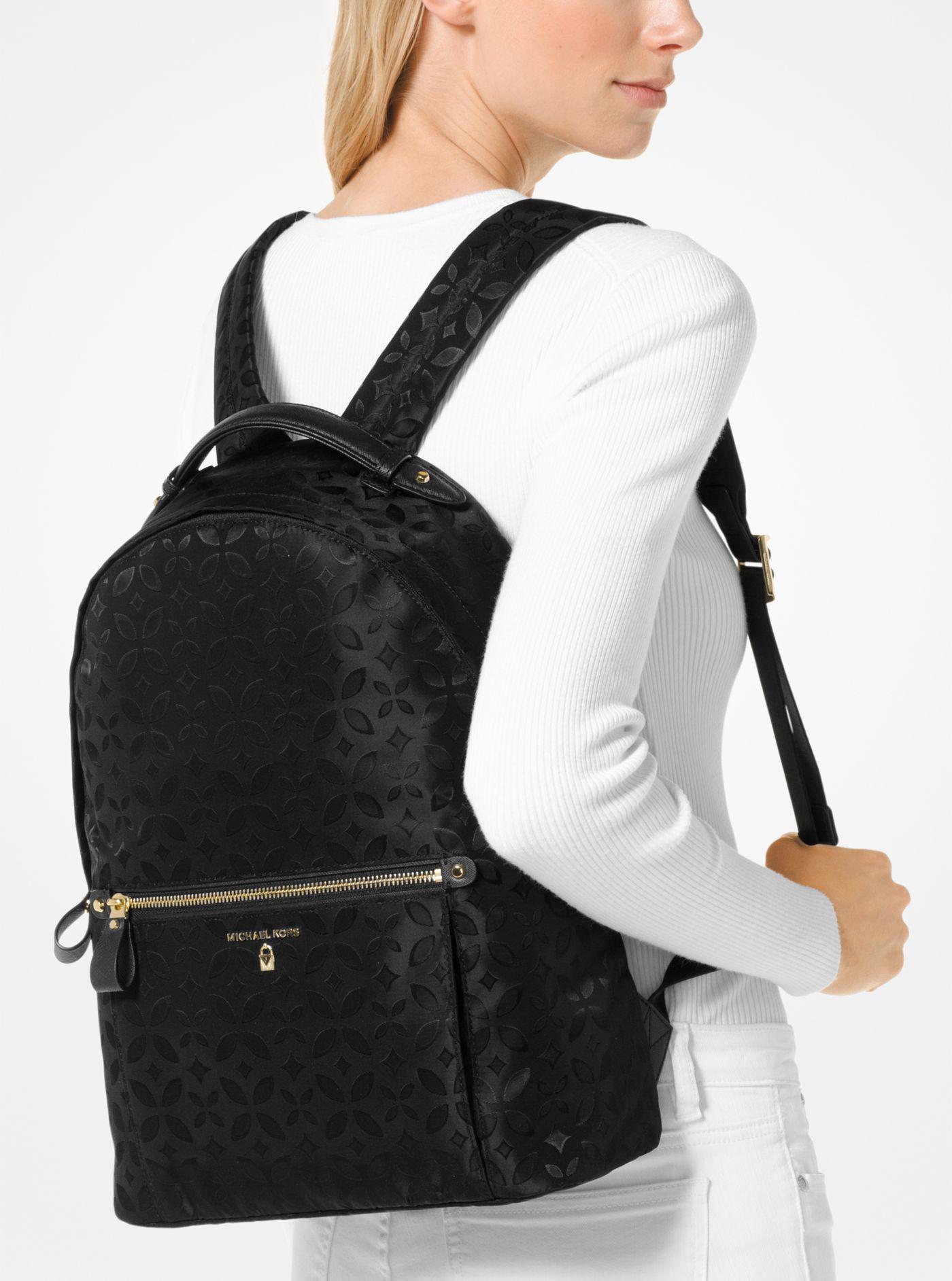 a029eedd78c3 Lyst - Michael Kors Michael Nylon Kelsey Signature Backpack in Black