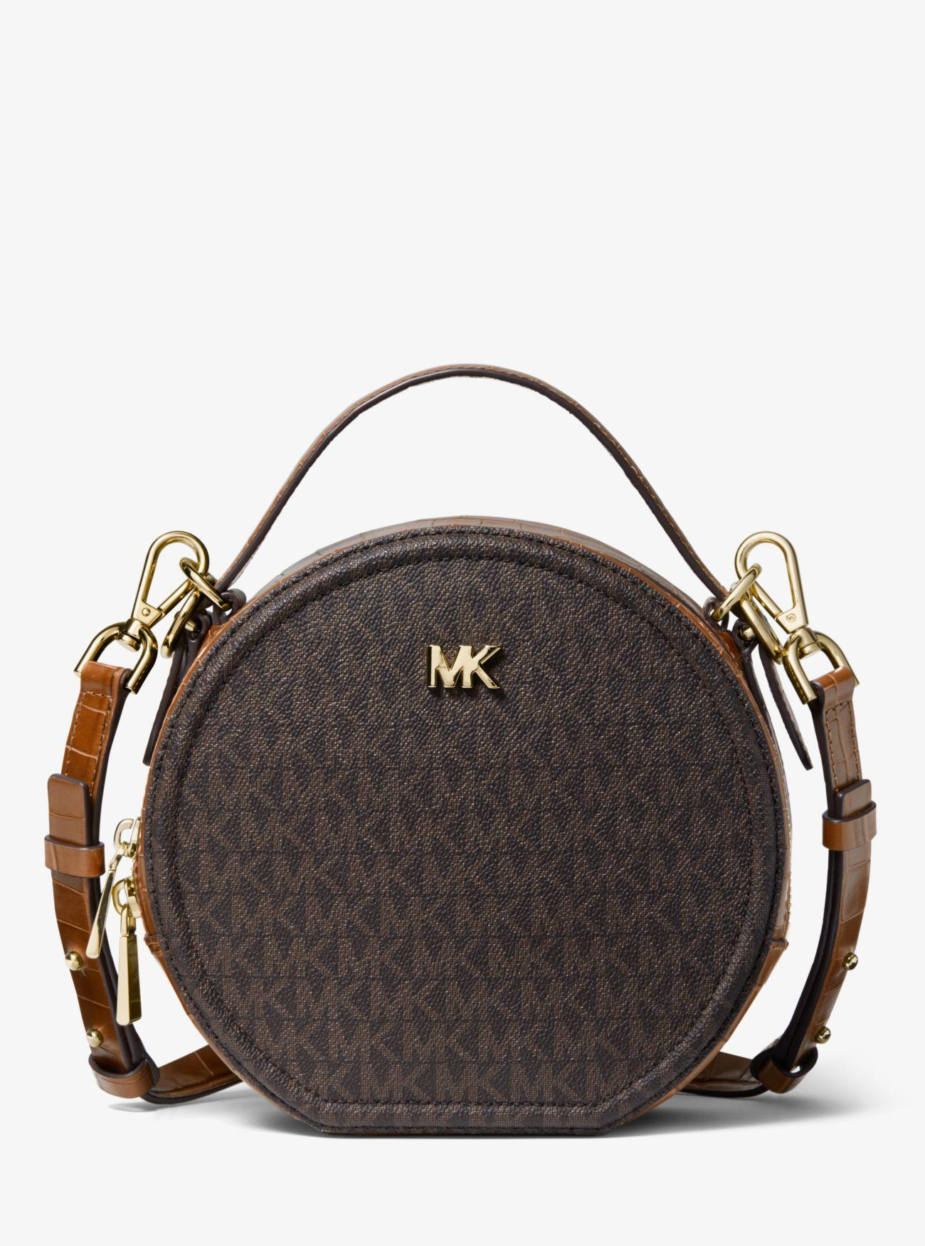 b7dc15718e2e Michael Kors Delaney Medium Logo Canteen Crossbody Bag in Brown - Lyst