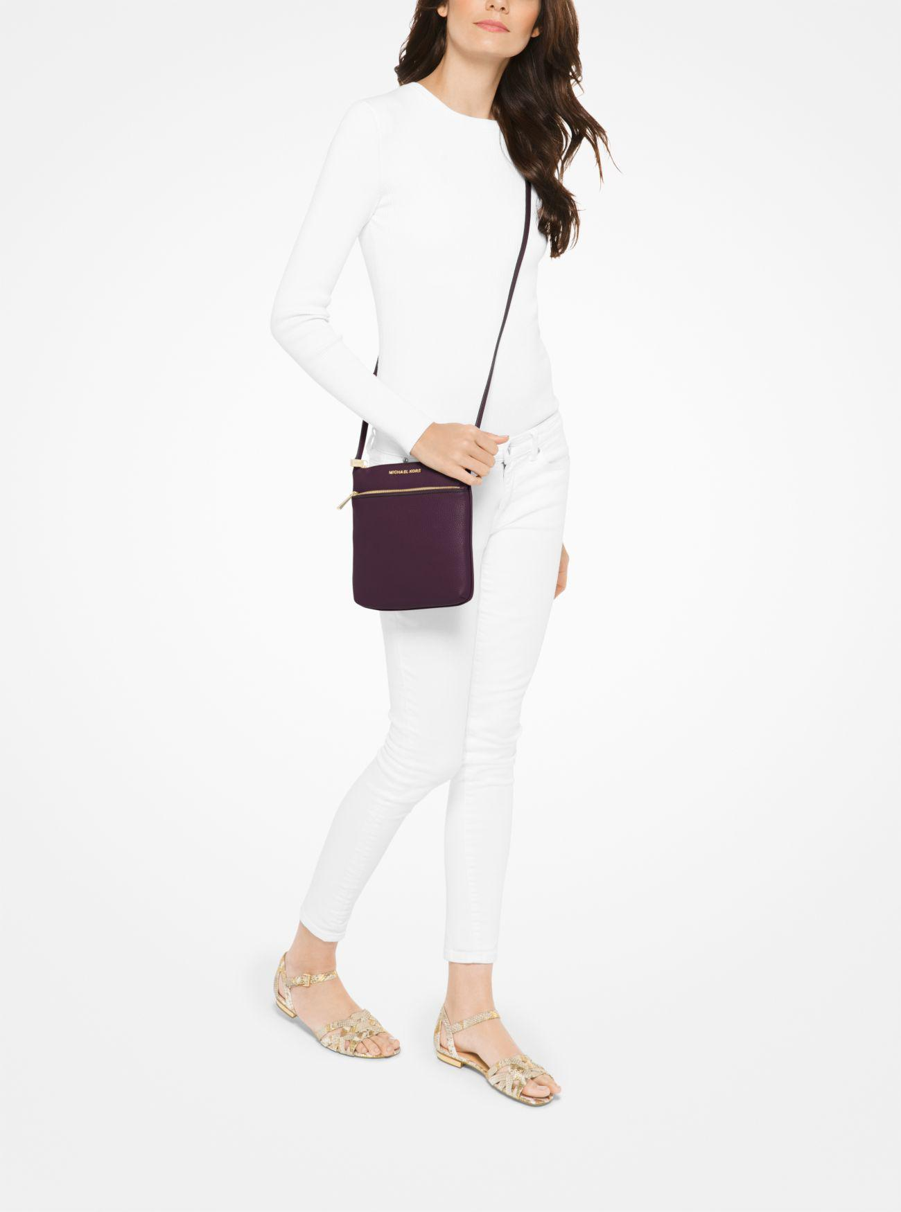 9ab334d0130d Michael Kors - Multicolor Riley Small Pebbled-leather Crossbody - Lyst