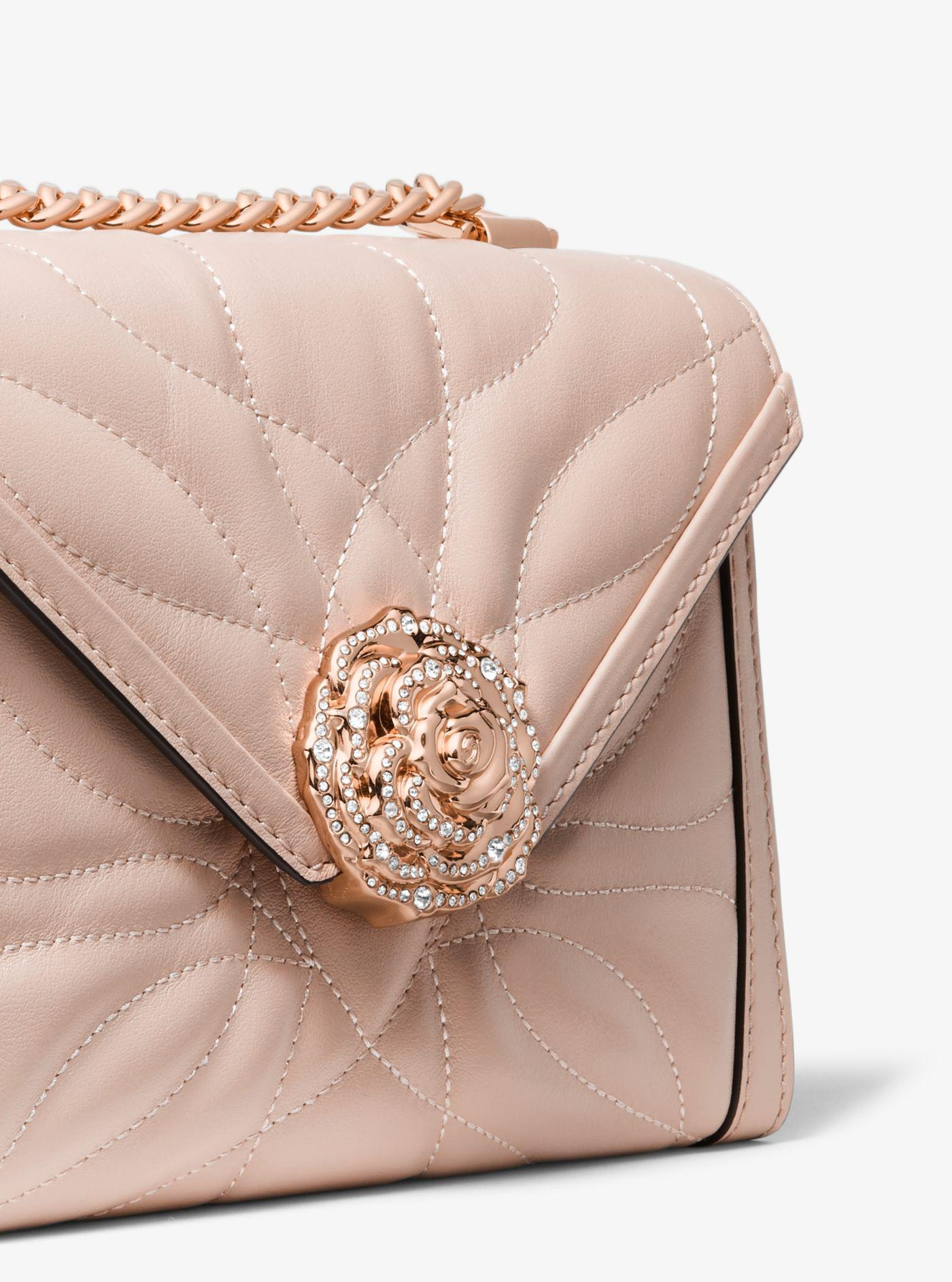 2245c54d807b23 Michael Kors Whitney Small Petal Quilted Leather Convertible ...