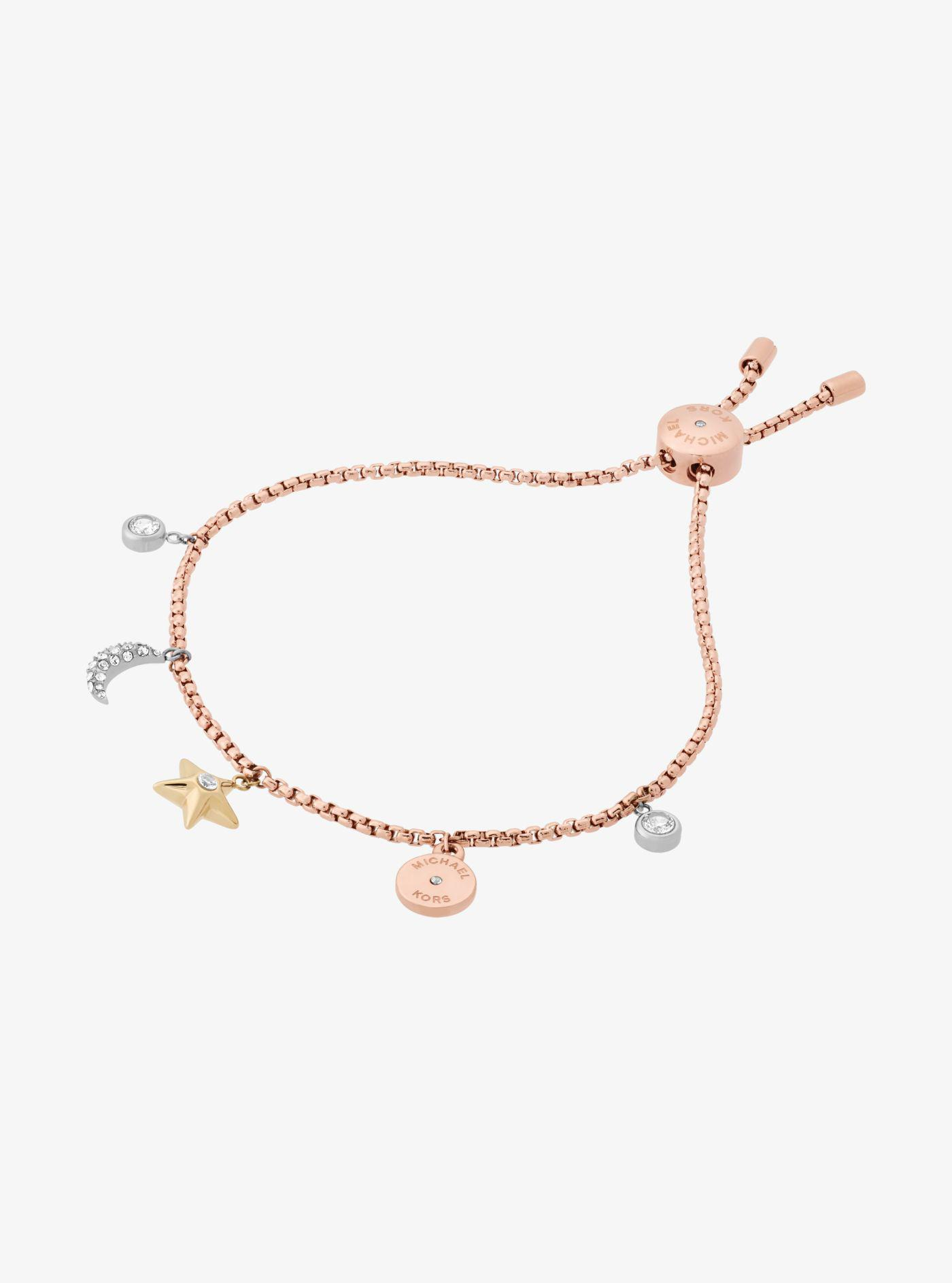 a52345e8b36a Lyst - Michael Kors Rose Gold-tone Celestial Charm Bracelet in Metallic