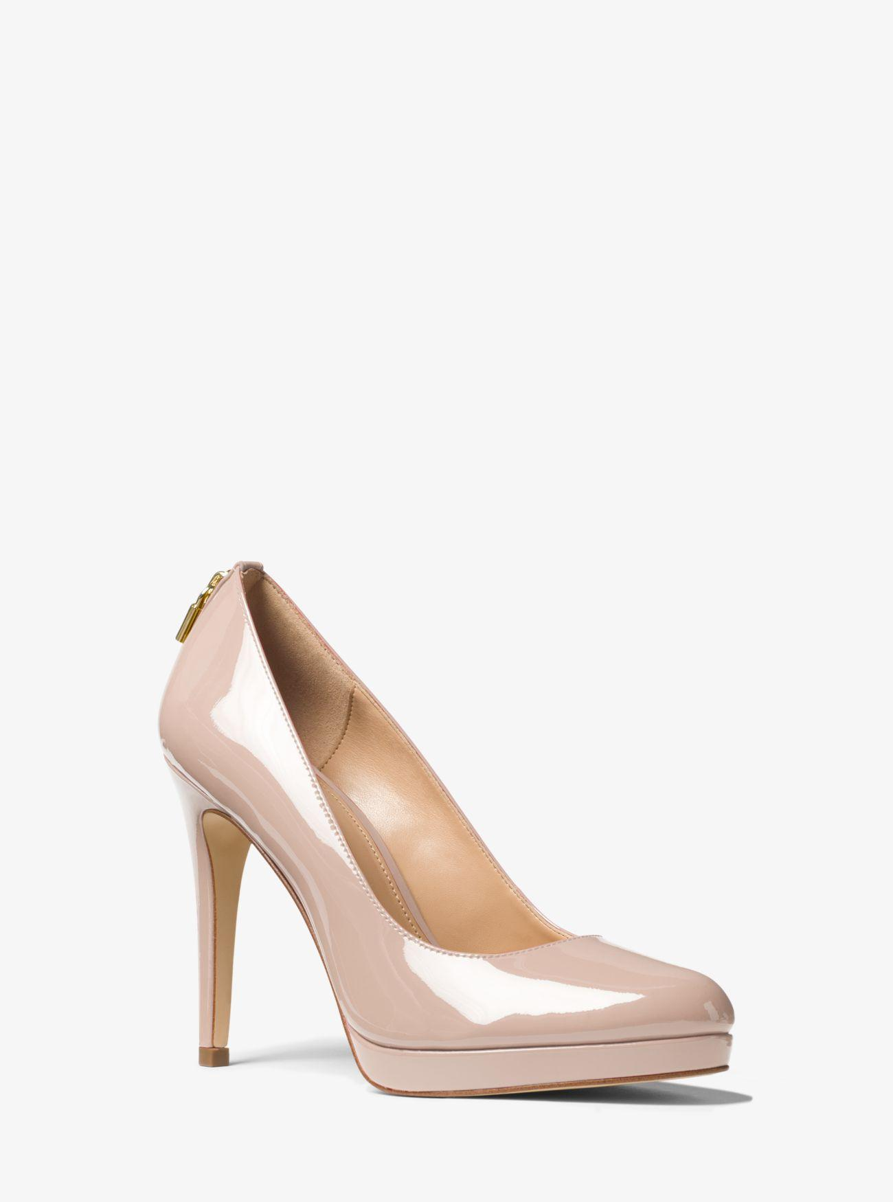 7f8dc60f560 Lyst - Michael Kors Antoinette Patent Leather Pump in Pink